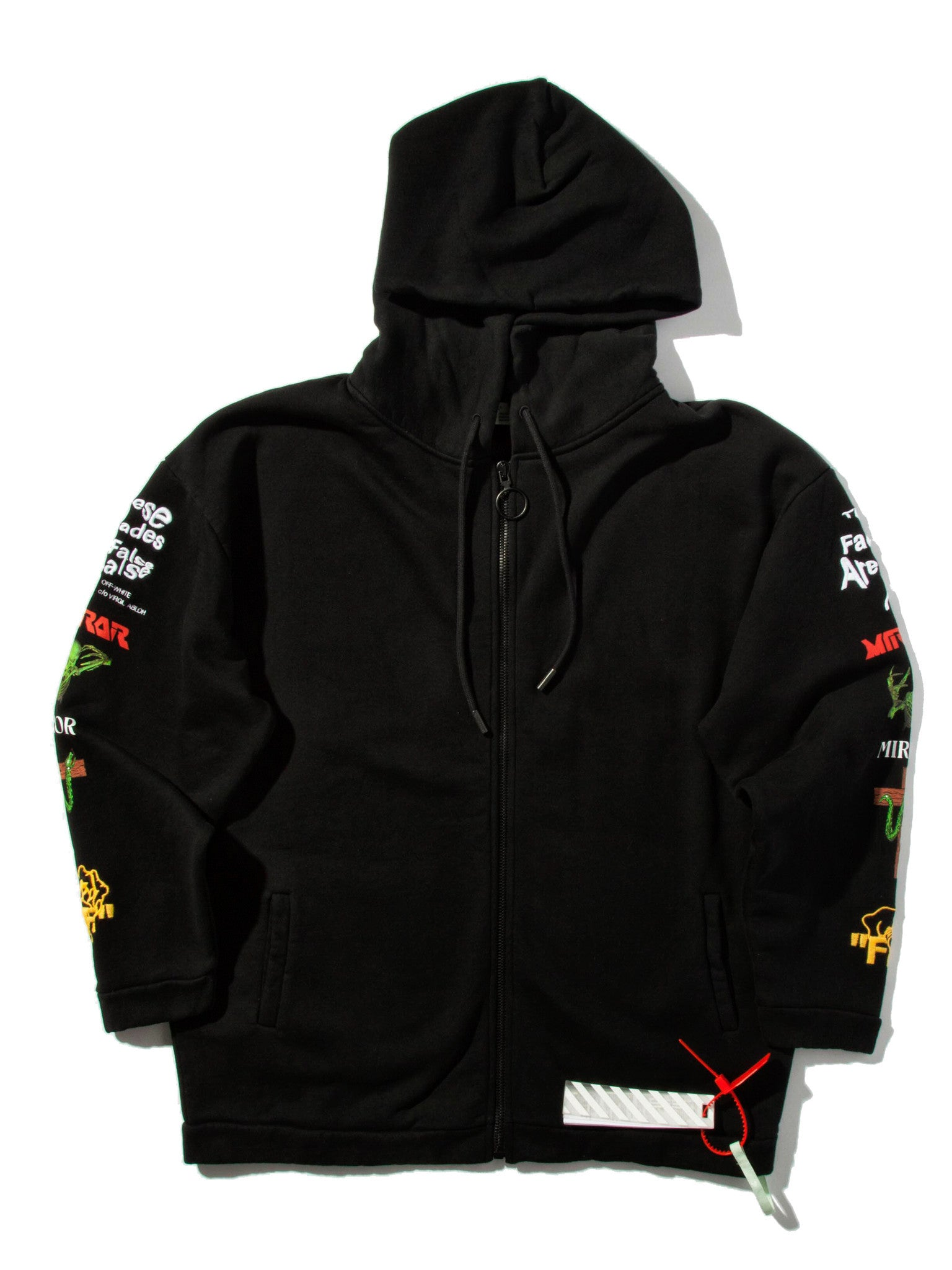 Black Mix Rock Hooded Sweatshirt 7