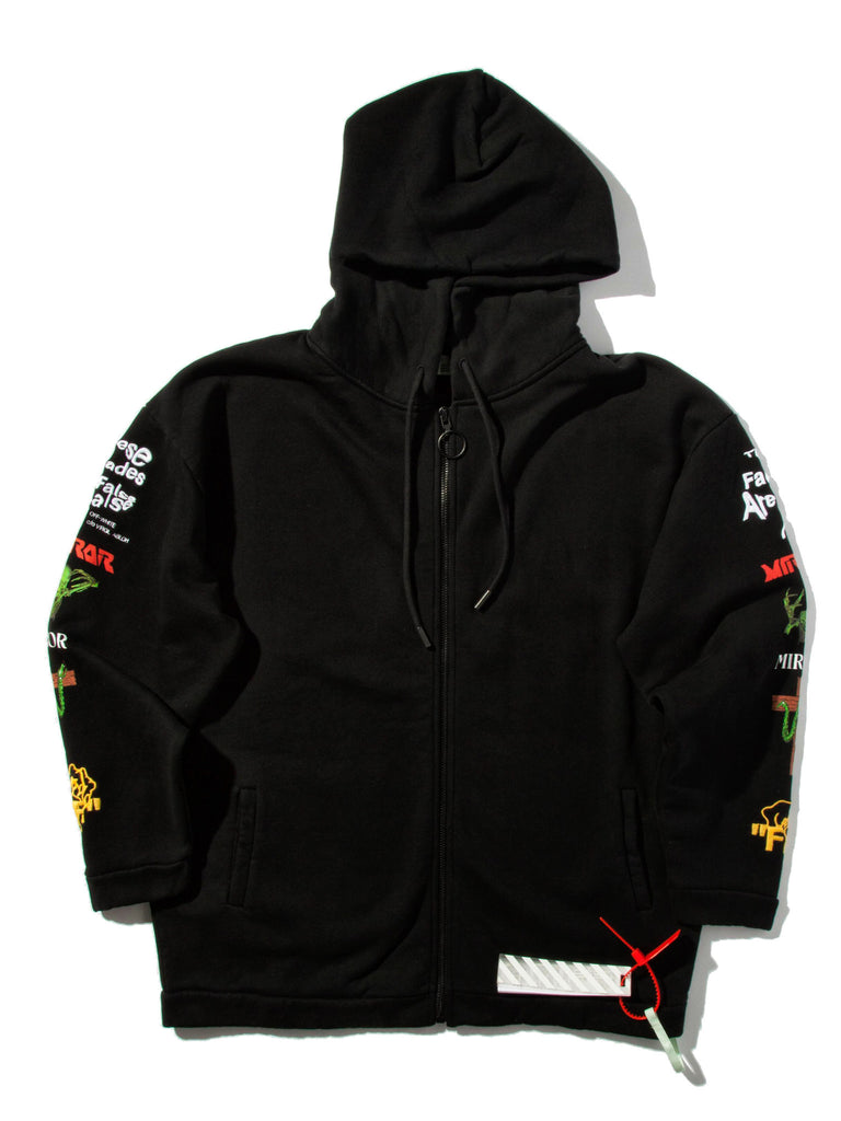 Black Mix Rock Hooded Sweatshirt 719855401417
