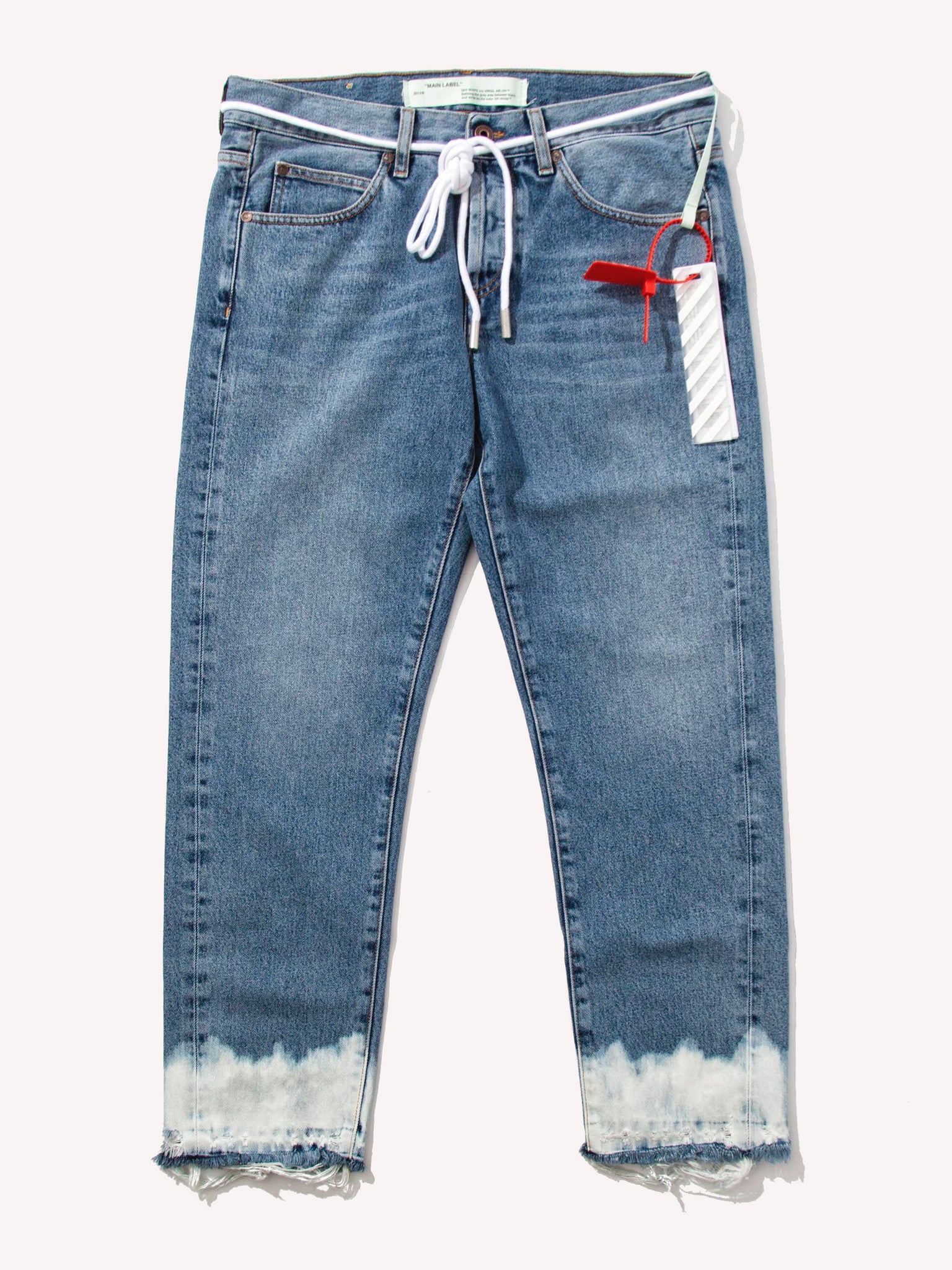 29 Crop 5 Pockets Bottom Bleach VTG Denim 1