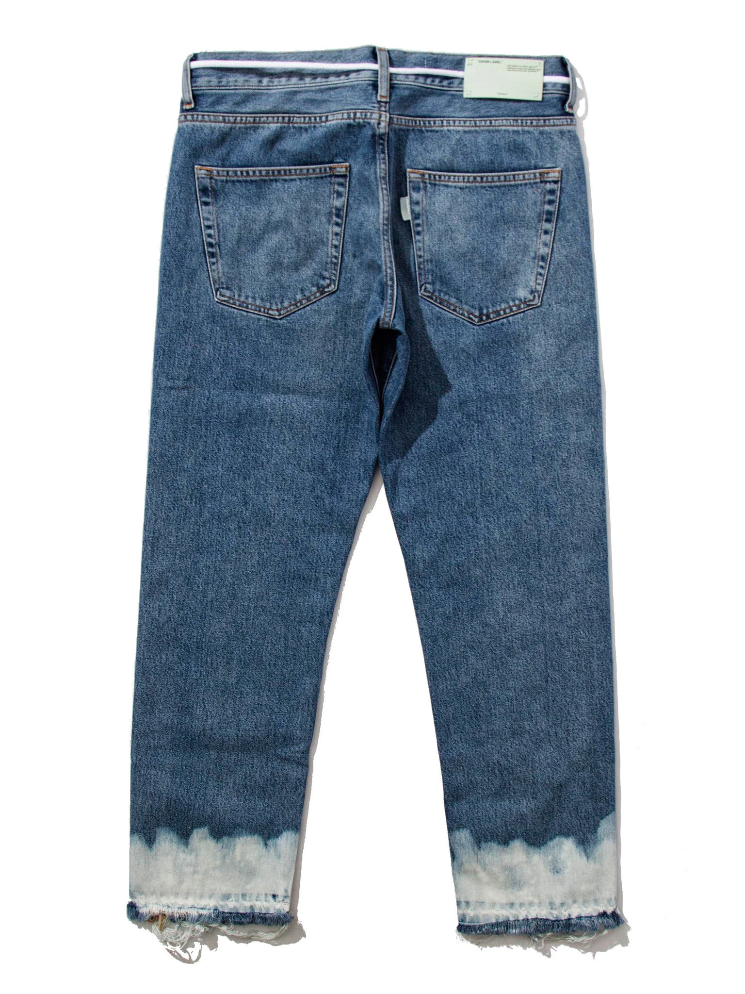 34 Crop 5 Pockets Bottom Bleach VTG Denim 4