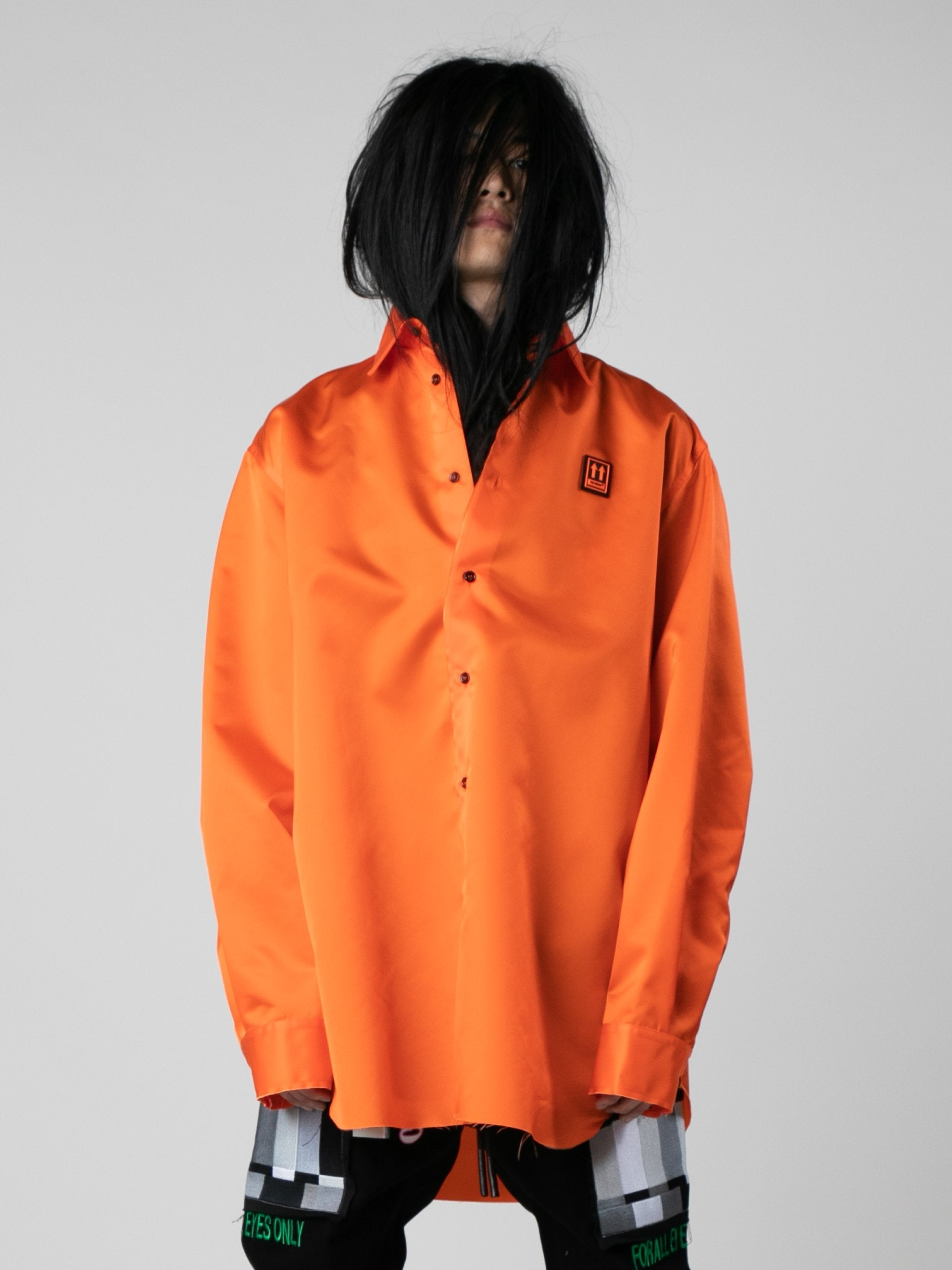 Orange / Black Scaffolding Over Shirt 2