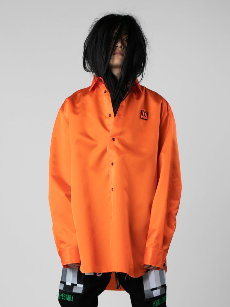 Orange / Black Scaffolding Over Shirt 213569953693773
