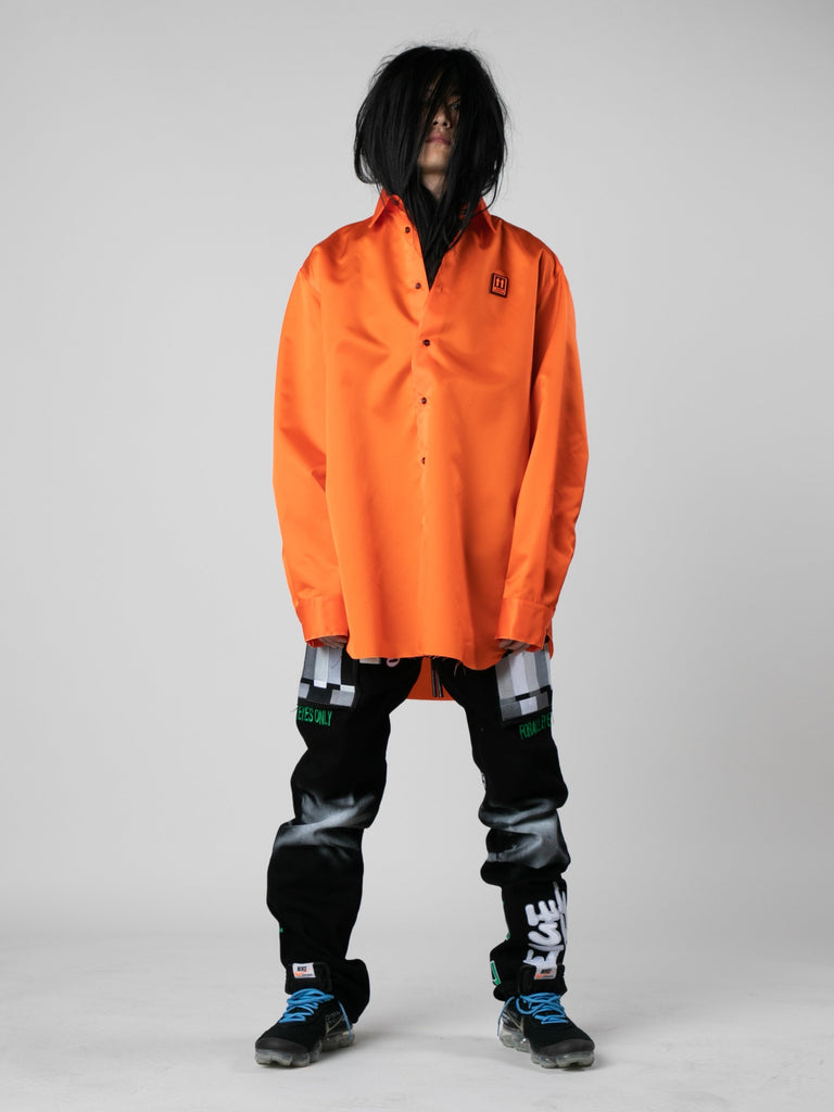 Orange / Black Scaffolding Over Shirt 313569953726541