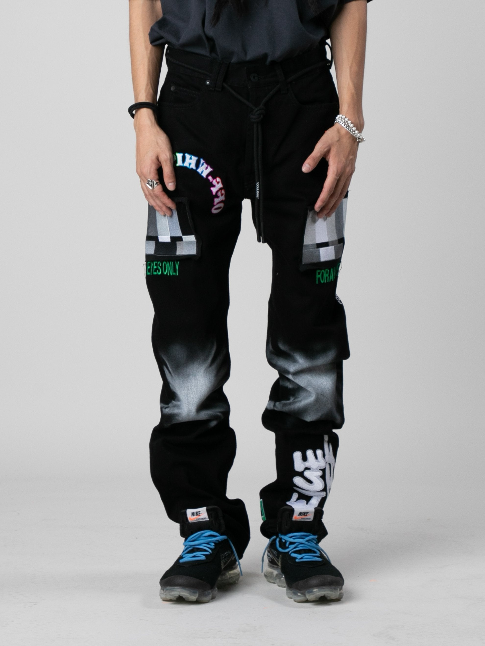 Black / Multicolor EV Bravado Relaxed Jeans 2