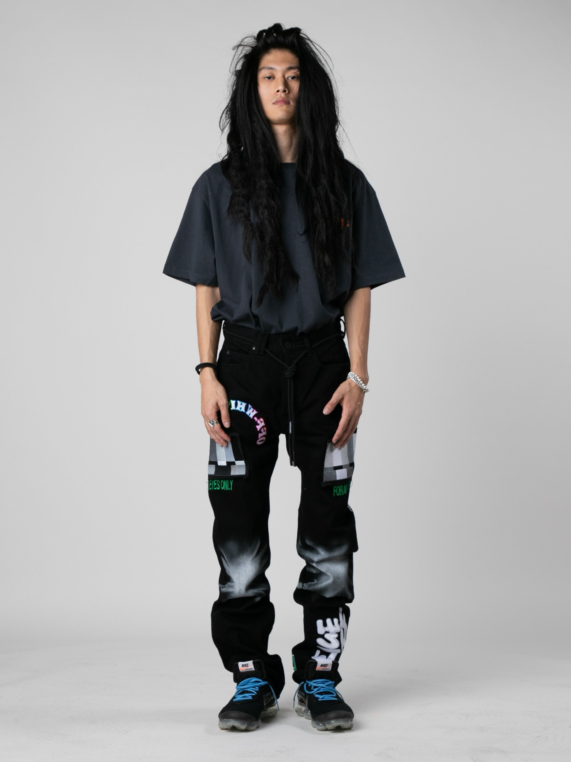 Black / Multicolor EV Bravado Relaxed Jeans 3