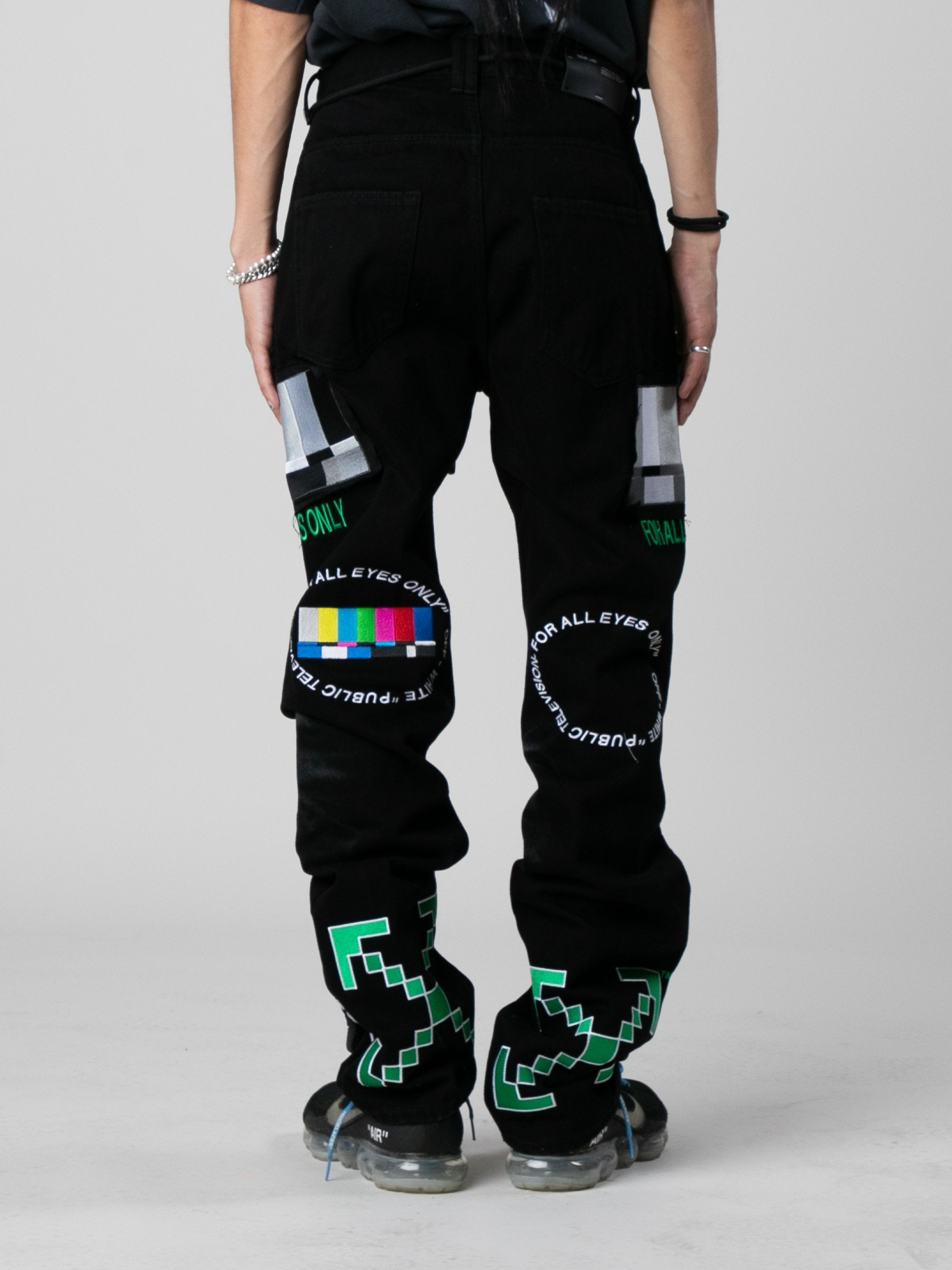Black / Multicolor EV Bravado Relaxed Jeans 5