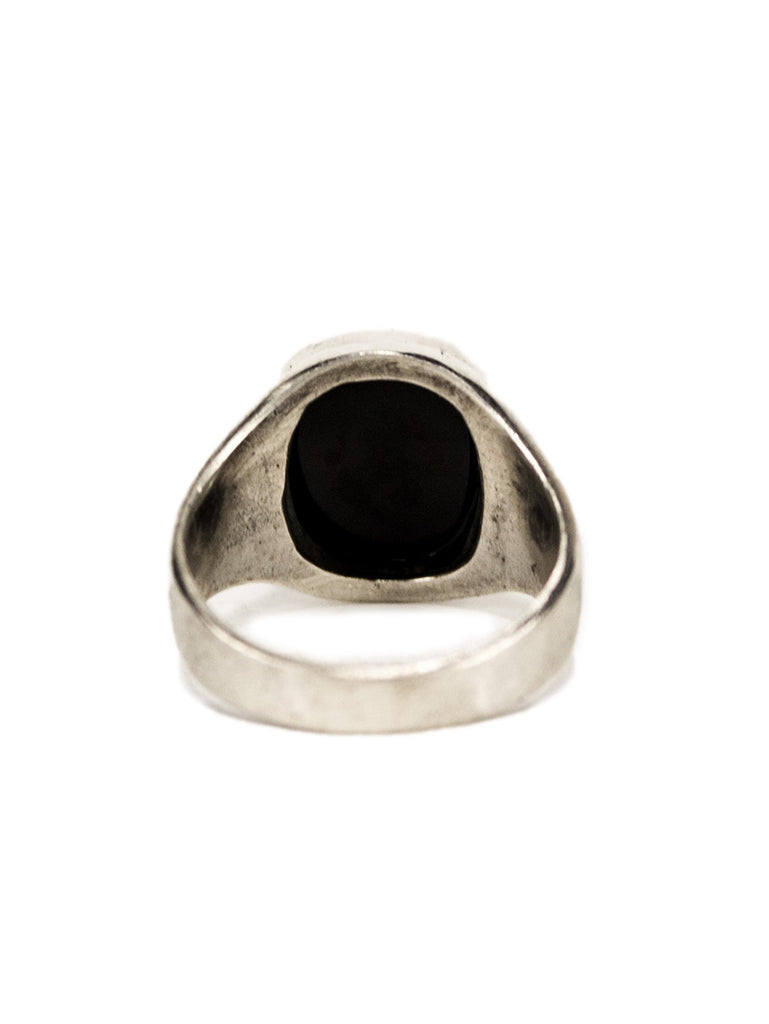 9.5 1930's Sterling Silver and Onyx Men's Ring 323557268425