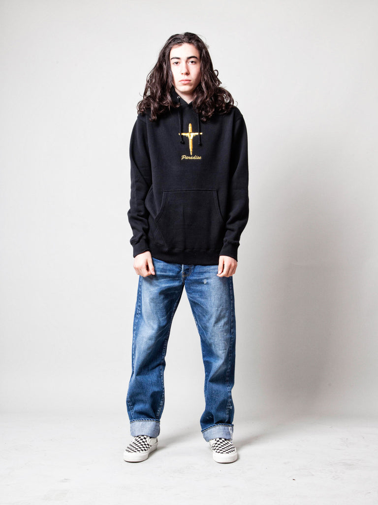 Gold Crucifix Hooded Sweatshirt