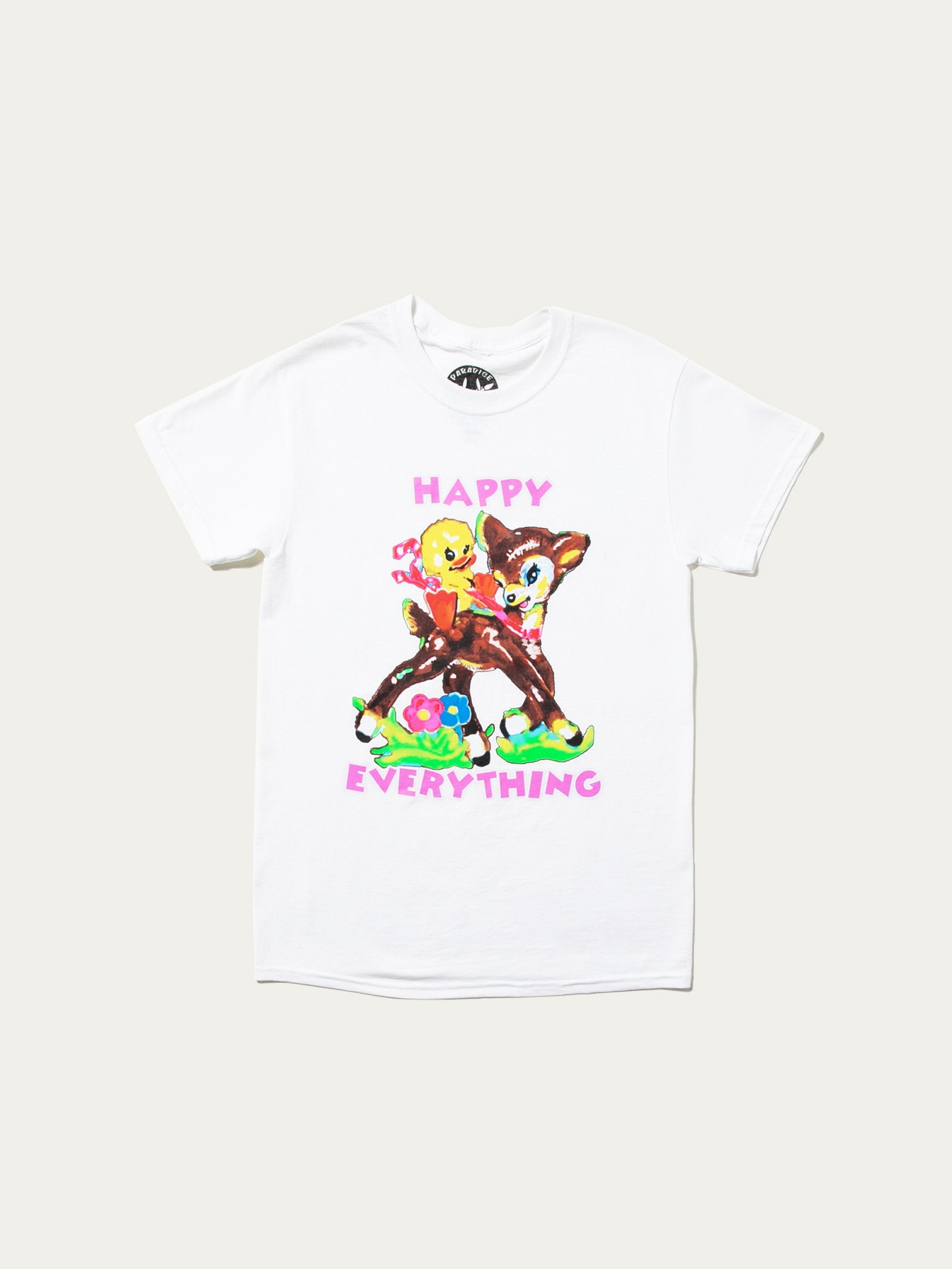 White Happy Everything T-Shirt 1