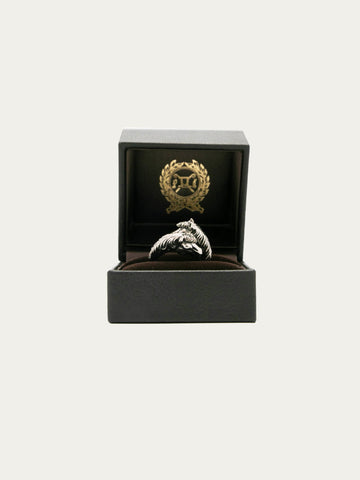 Twoface Horse Ring Silver