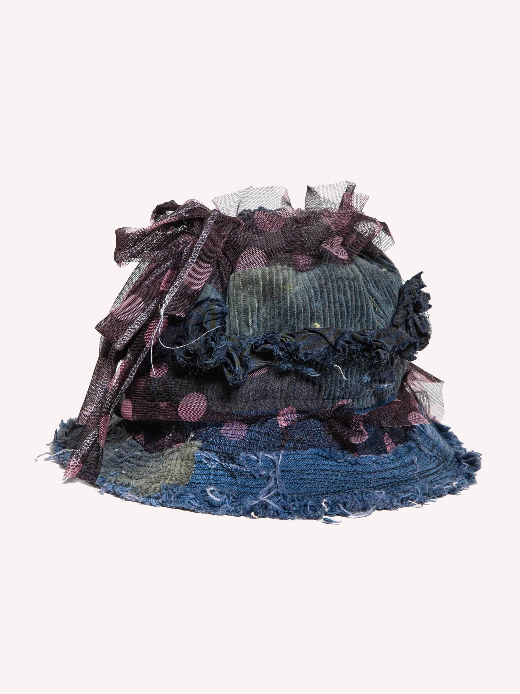 Navy Blue Decorated Free Hat 1