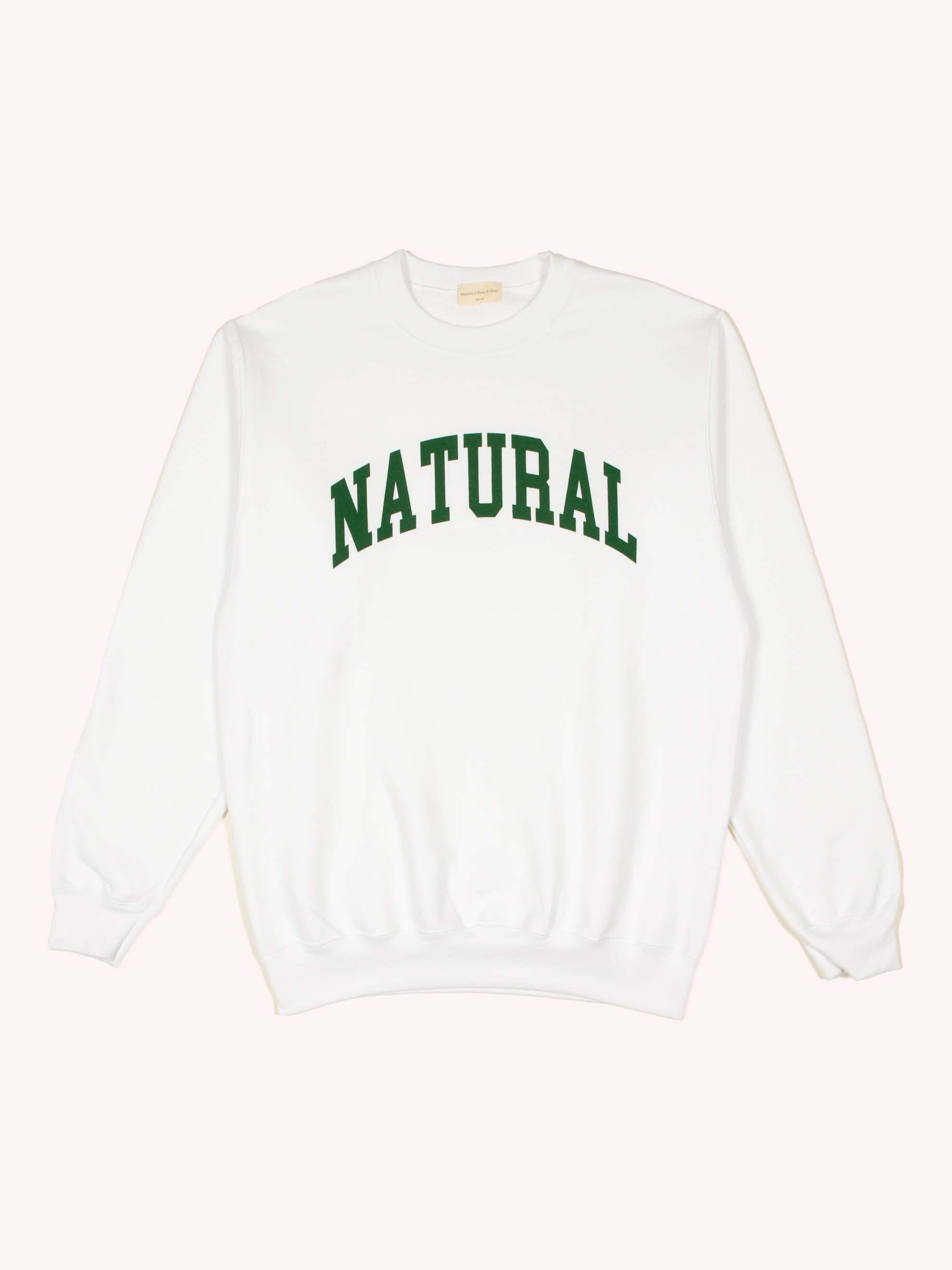 White Natural Fleece Crew UNION 1