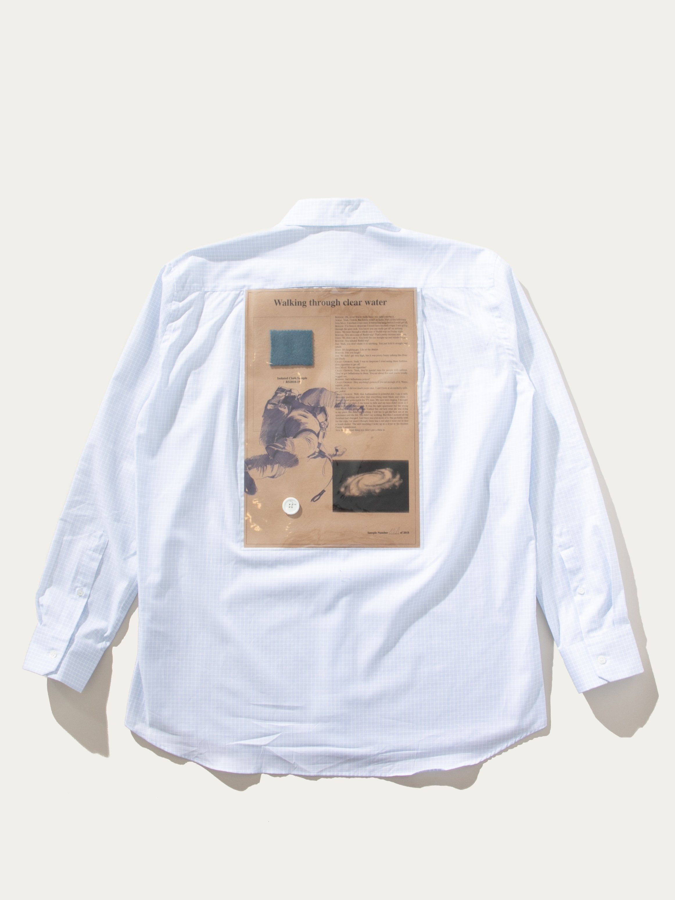 White/Light Blue Plastic Yoke Shirt 1