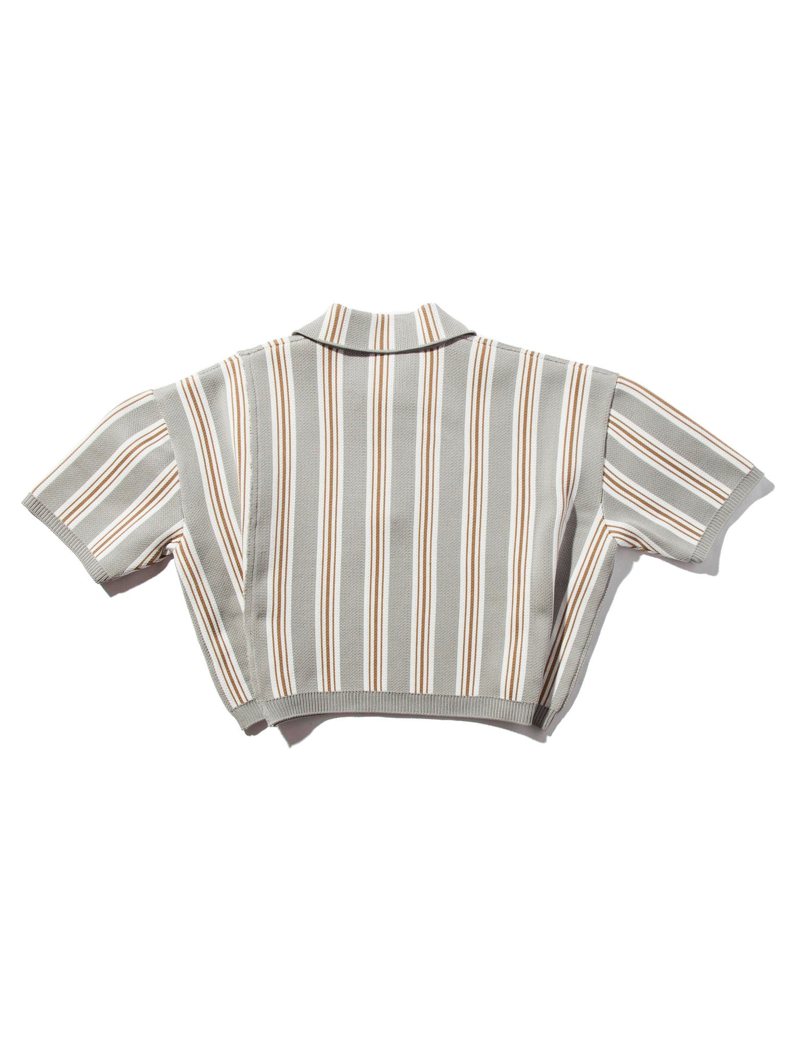 O/S Oversized Cropped Polo (Vert. Stripes) 7