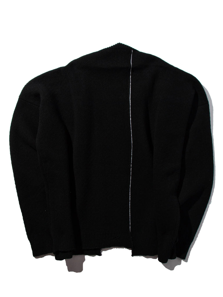 Oversized Distorted Straight Necklined Sweater