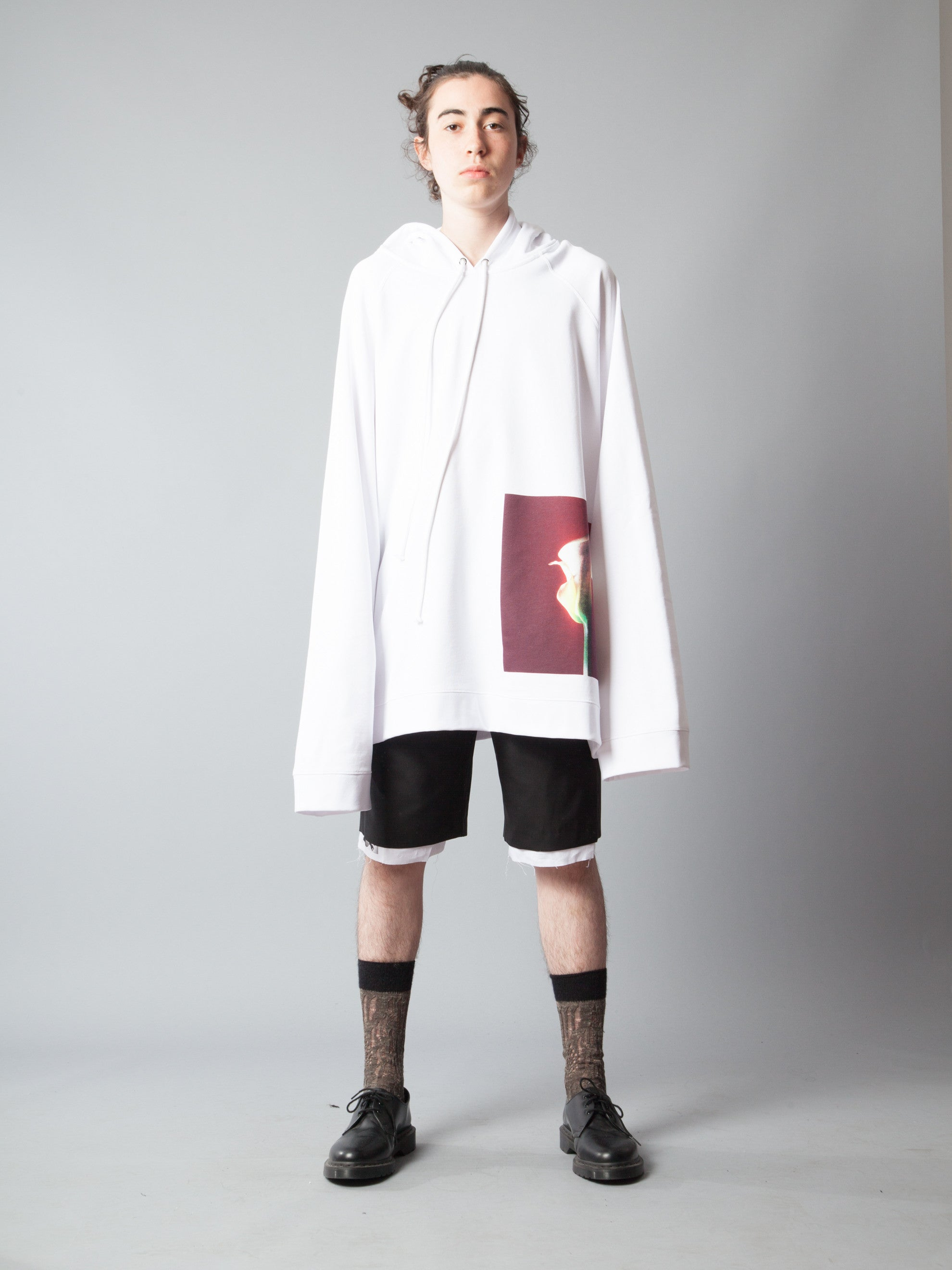 White Oversized Hoodie (Calla Lily) 2