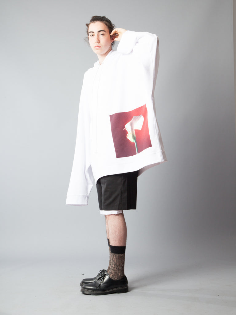 White Oversized Hoodie (Calla Lily) 320014548425