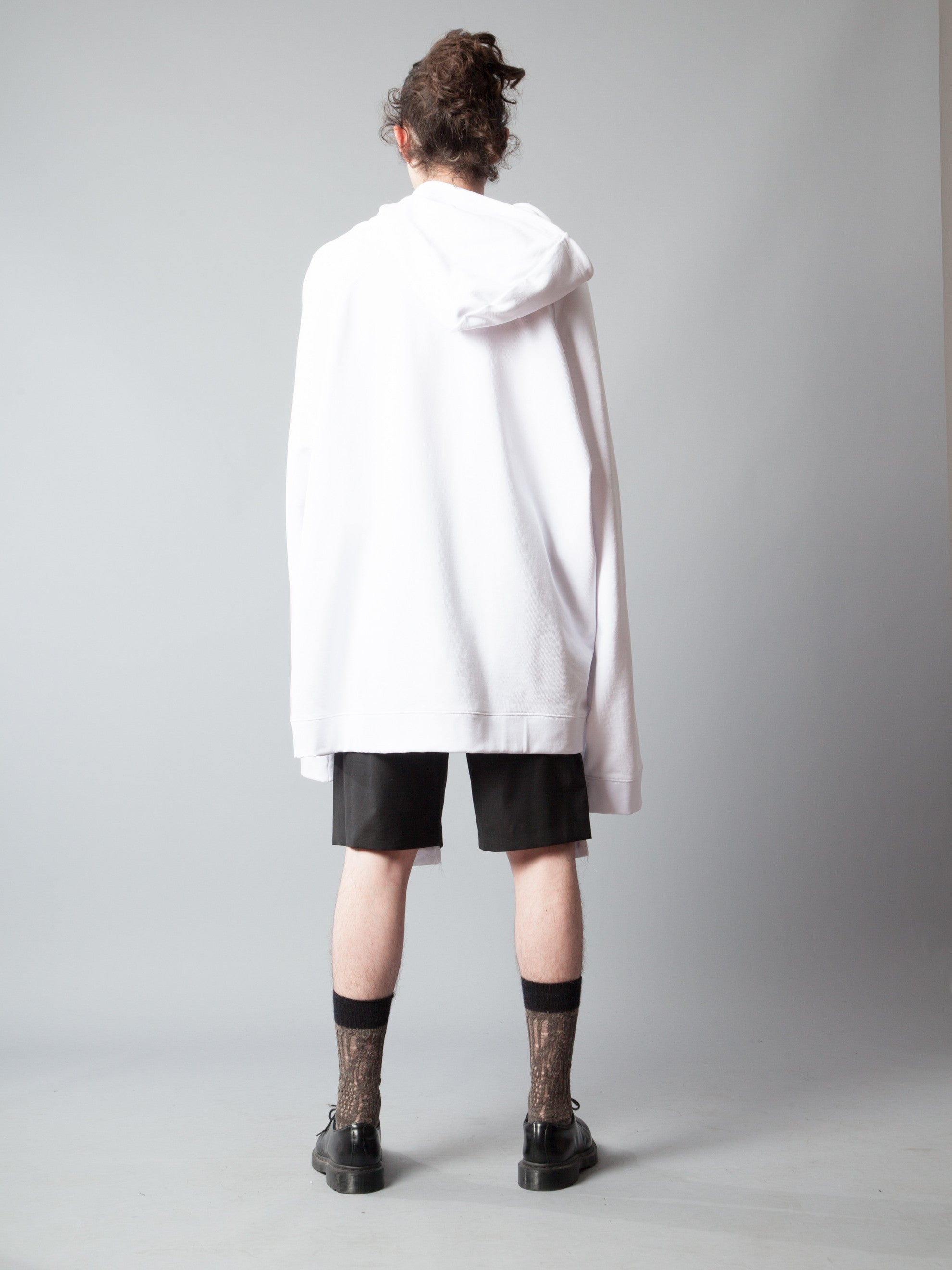White Oversized Hoodie (Calla Lily) 5