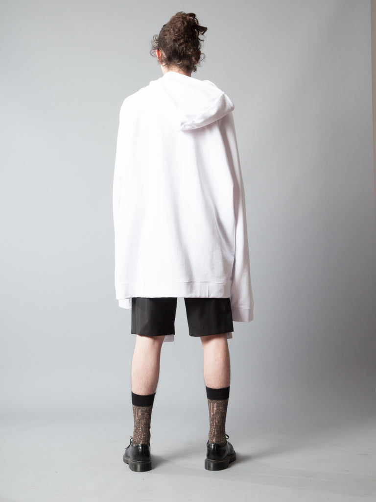 White Oversized Hoodie (Calla Lily) 520014549001