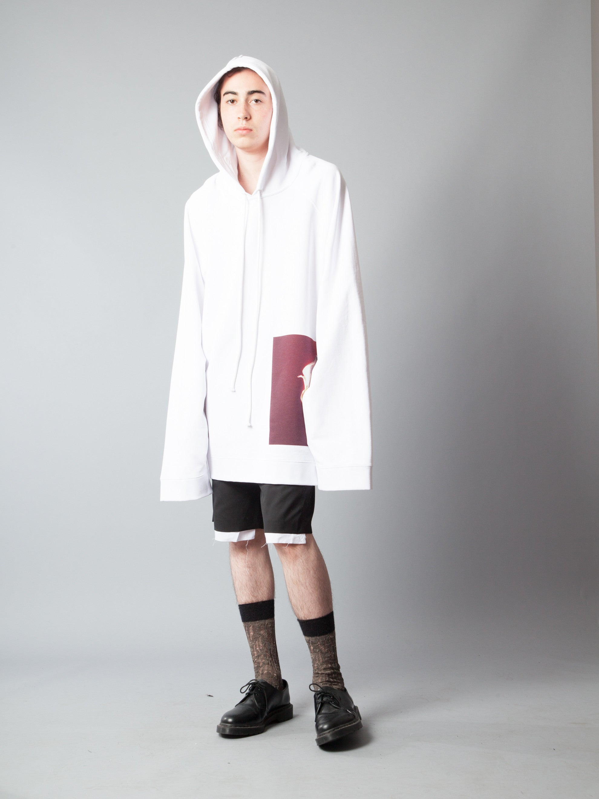 White Oversized Hoodie (Calla Lily) 4