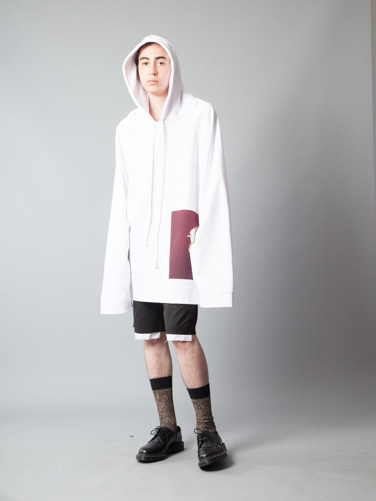 White Oversized Hoodie (Calla Lily) 420014549961