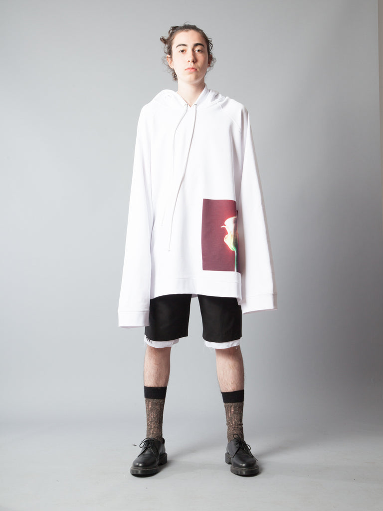 White Oversized Hoodie (Calla Lily) 220014554505