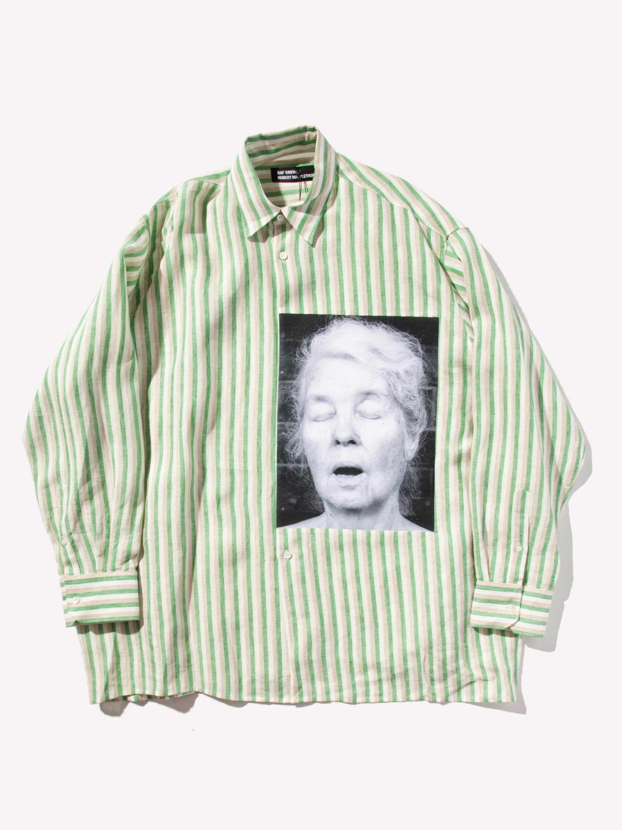 White/Green Oversized Shirt (Alice Neel) 1