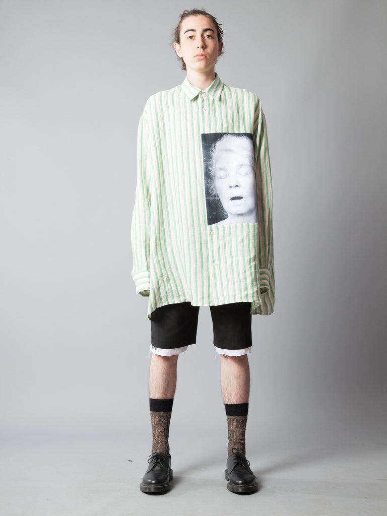 White/Green Oversized Shirt (Alice Neel) 220014504073