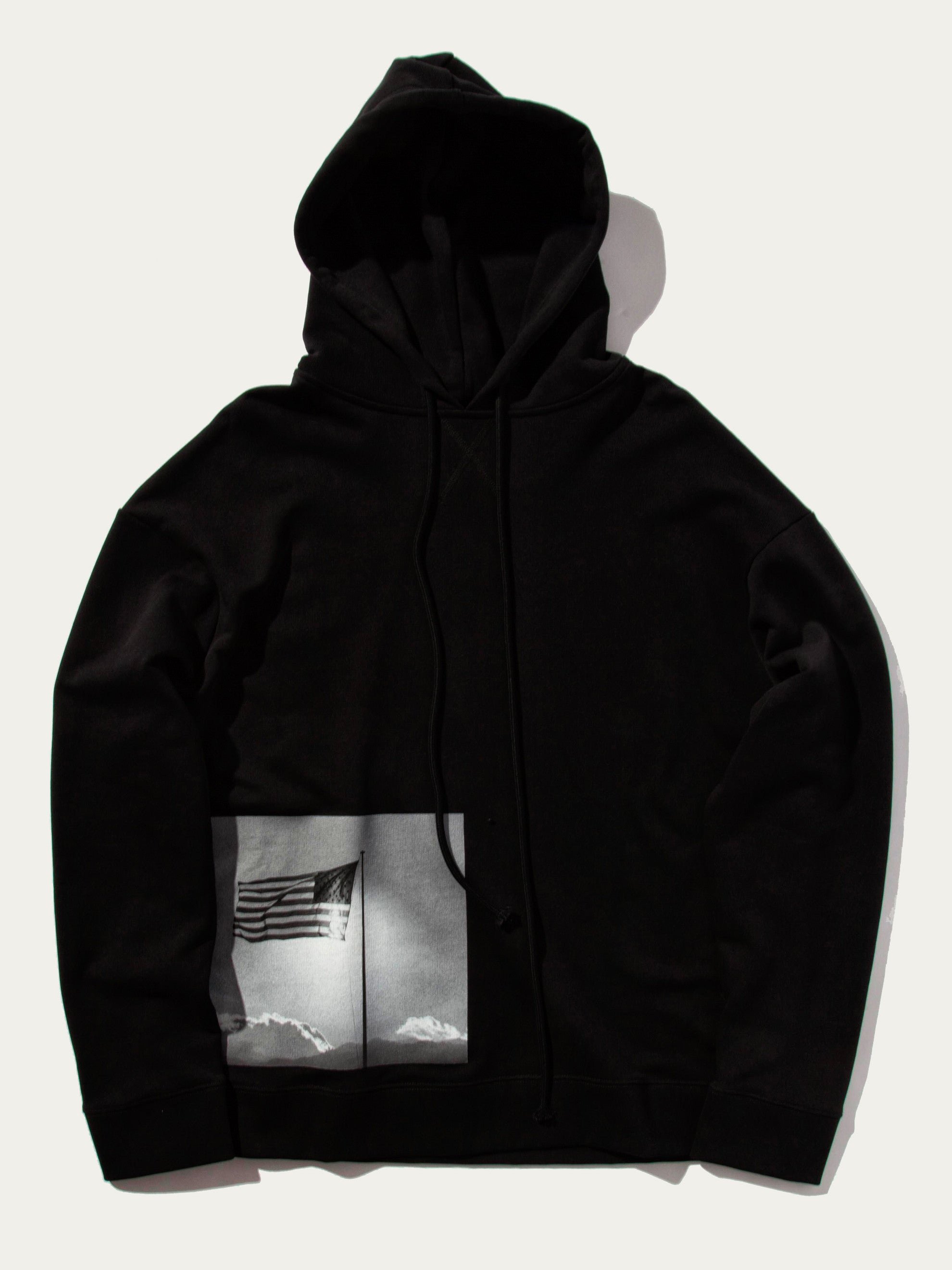 Black Regular Fit Hoodie (American Flag) 1