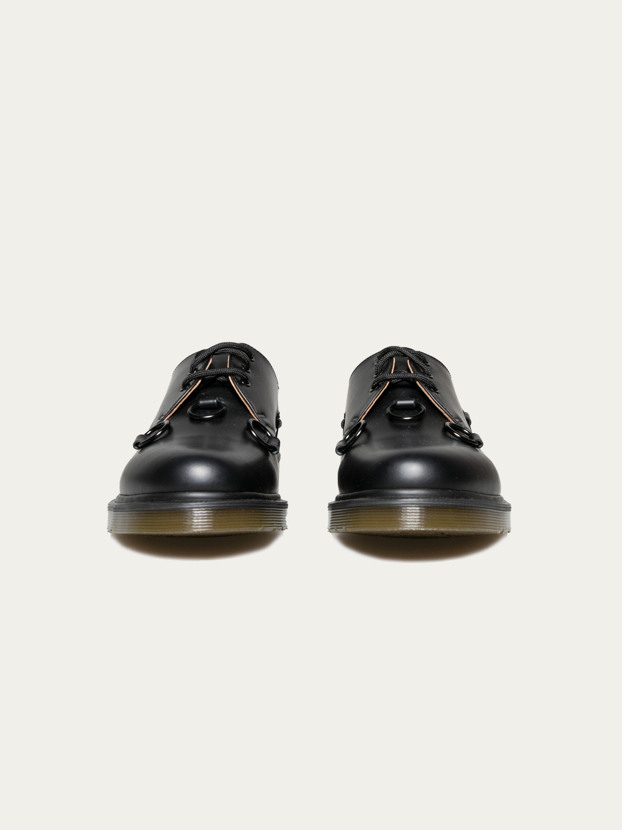 Black Raf Simons x Dr. Martens Low Shoe With Nickel Rings 3