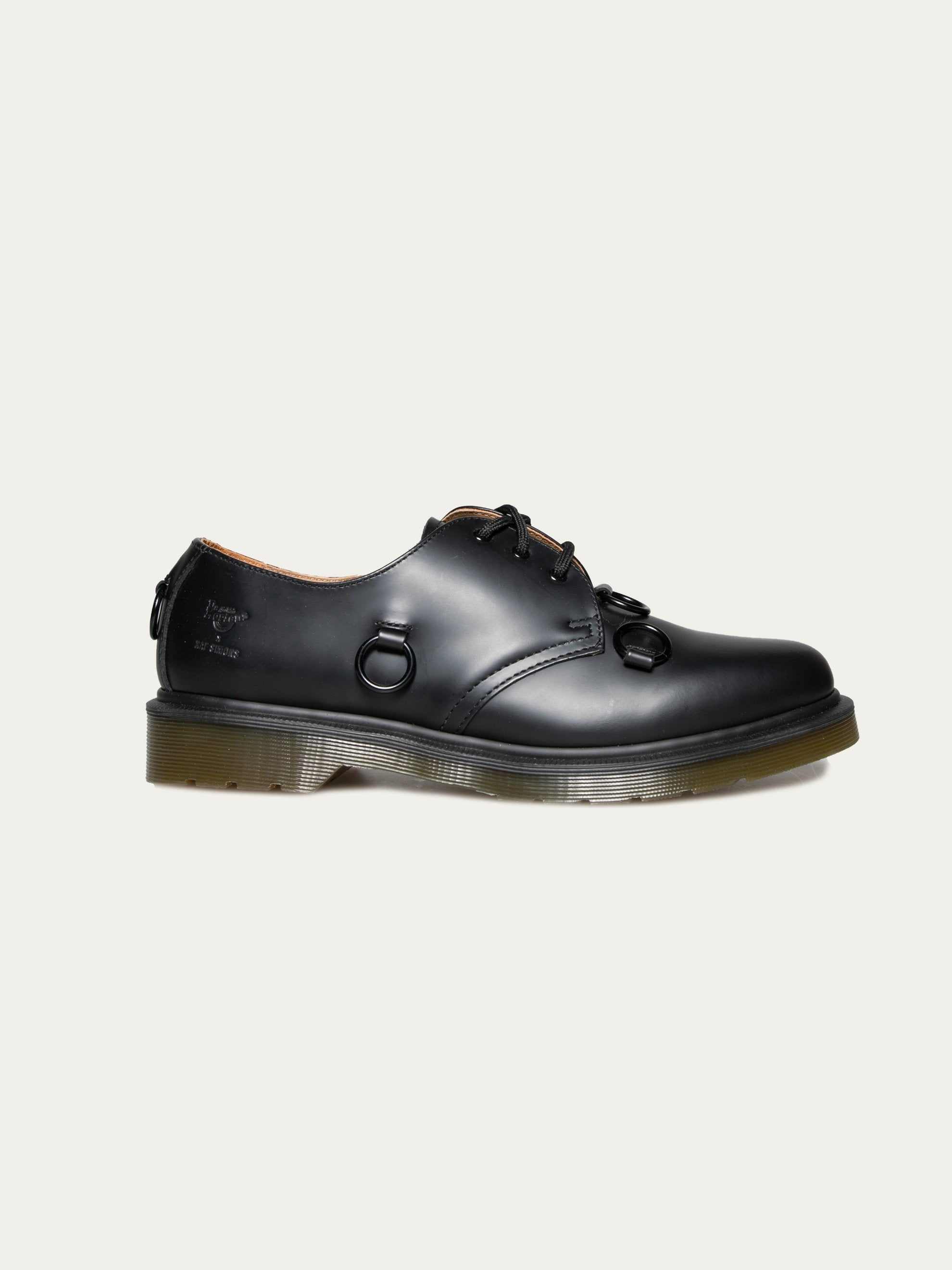 Black Raf Simons x Dr. Martens Low Shoe With Nickel Rings 1