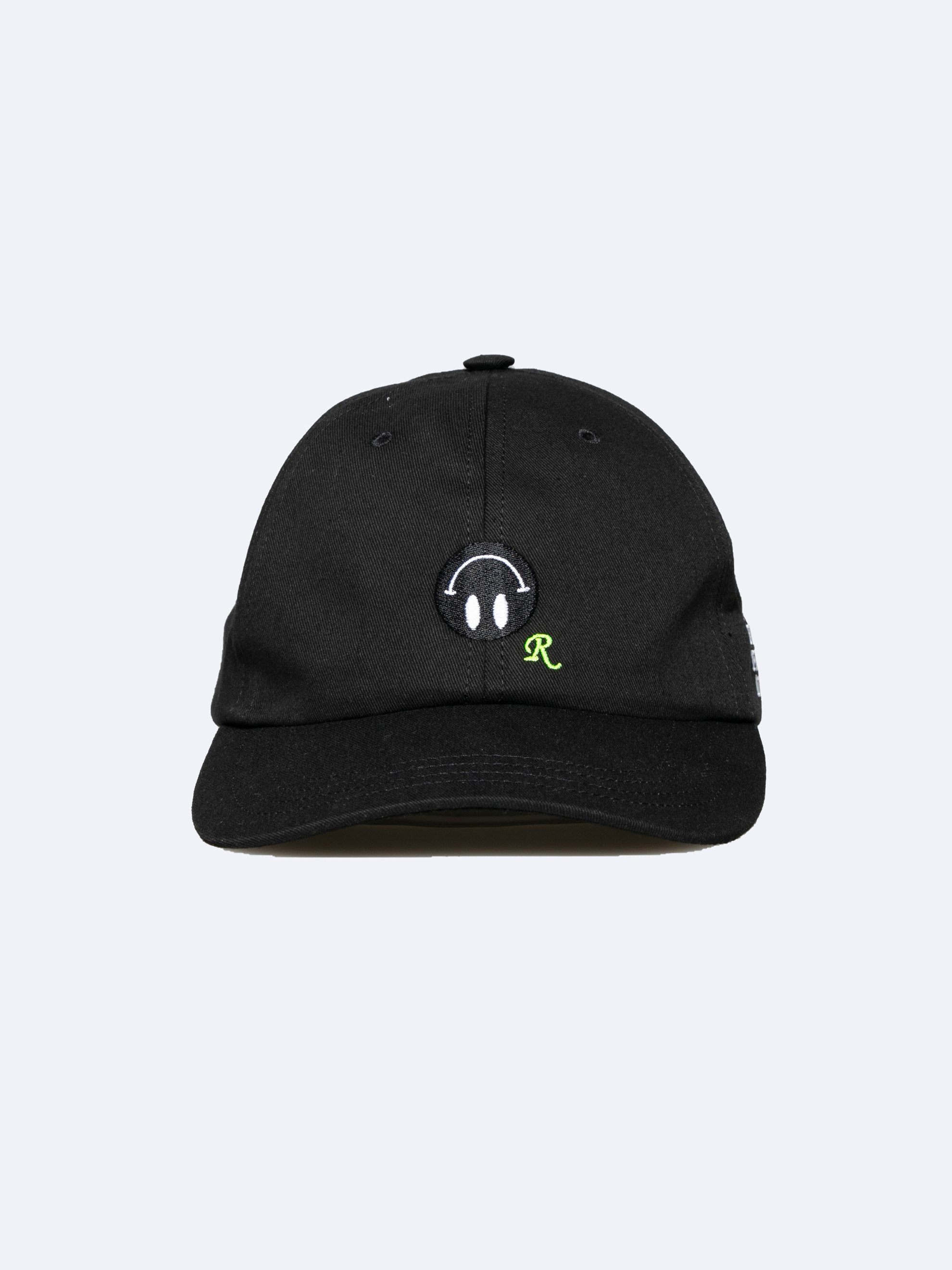 Black Embroidered Cap 1