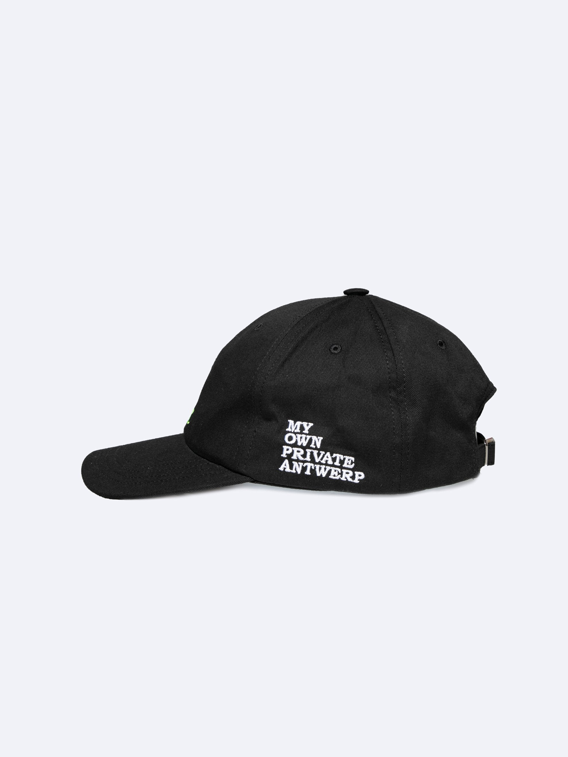Black Embroidered Cap 2