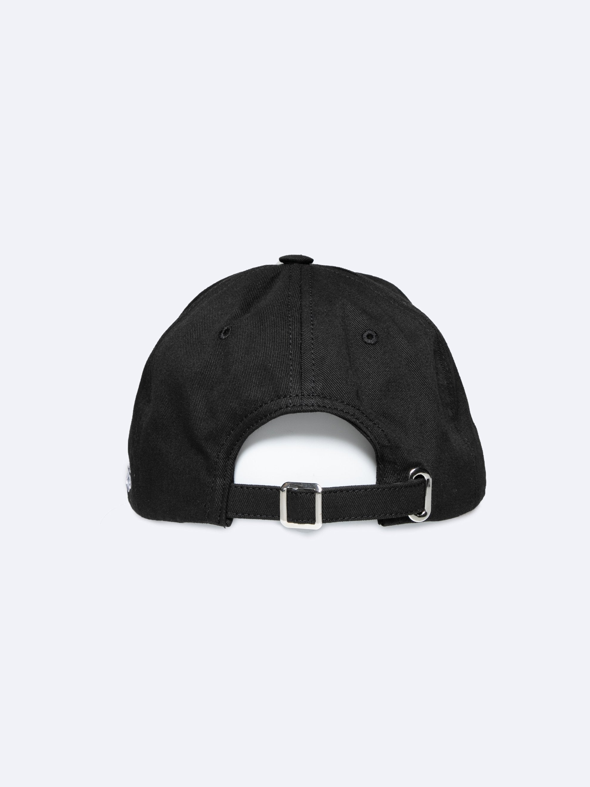 Black Embroidered Cap 3