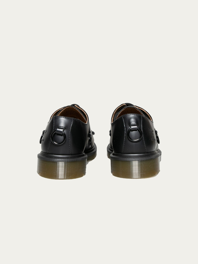 Black Raf Simons x Dr. Martens Low Shoe With Nickel Rings 414325699510349