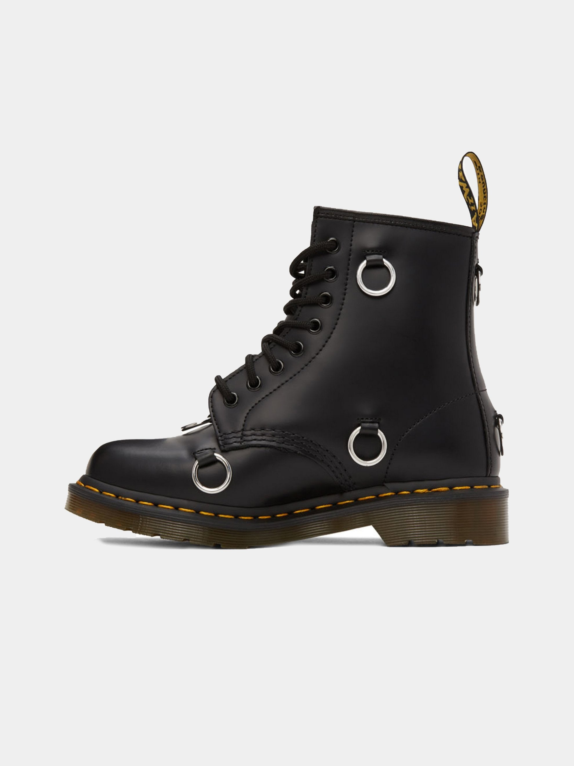 Black Dr. Martens High Boot With Rings 4