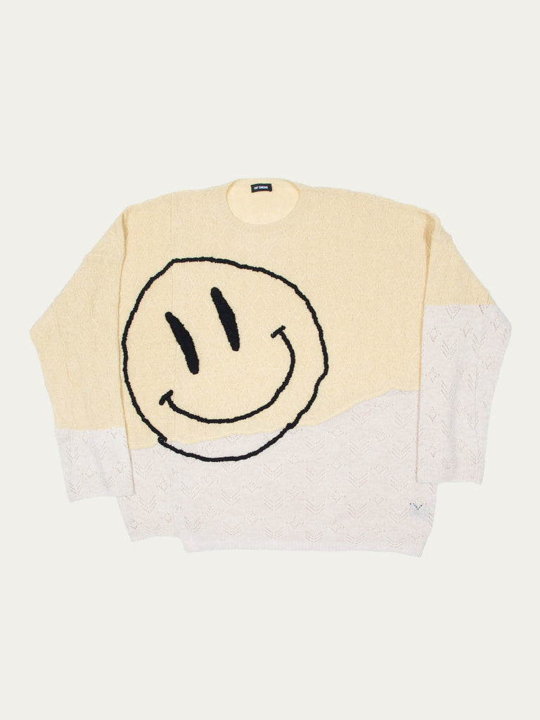 Collage Oversized Sweater With Smiley