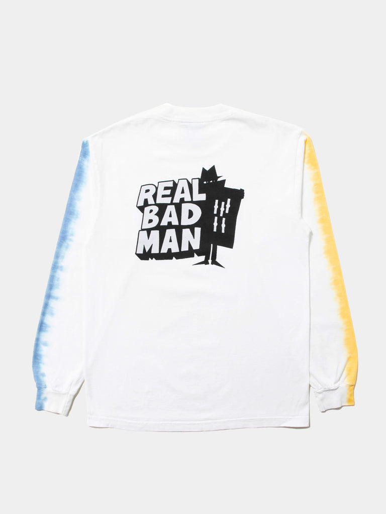 White RBM Logo Vol. 4 Tye-Dye Long Sleeve T-Shirt 213526036316237