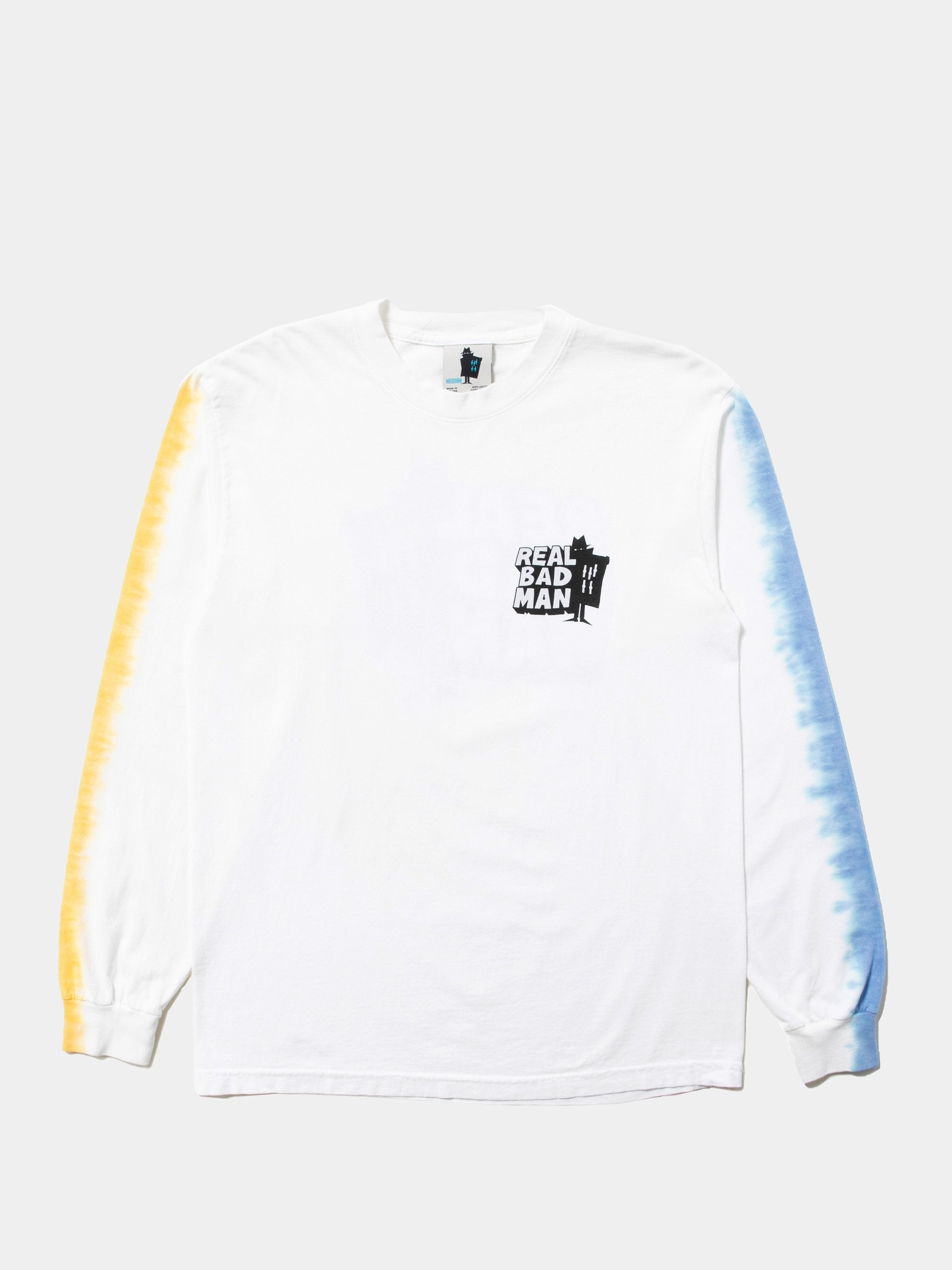 White RBM Logo Vol. 4 Tye-Dye Long Sleeve T-Shirt 1