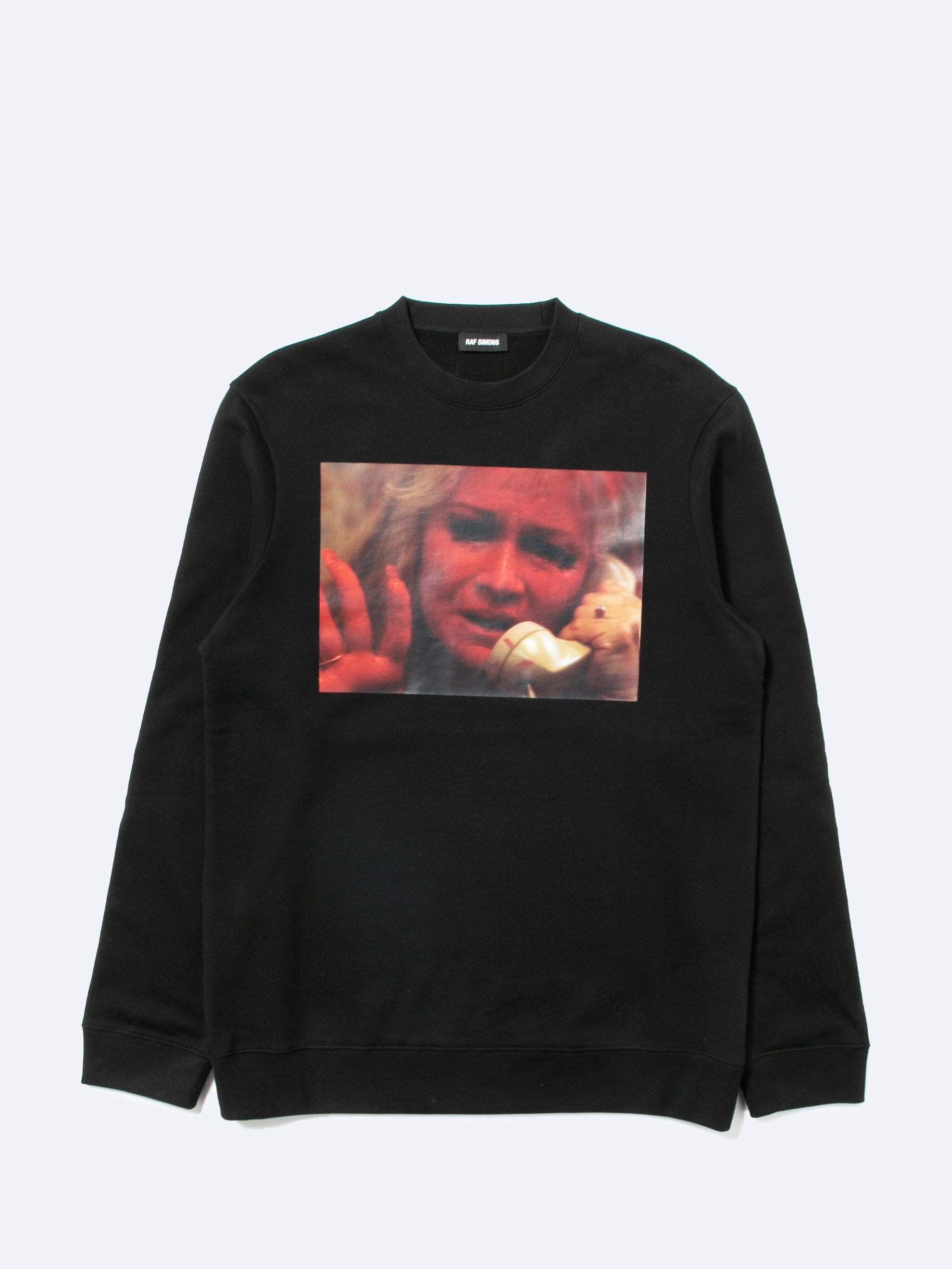 Black Mother On Phone Crewneck Sweater 1