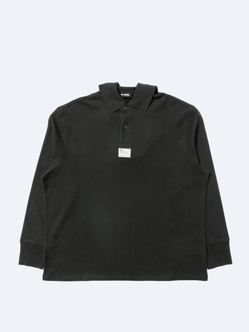 Long Sleeve Polo with Big Loose Hanging Collar
