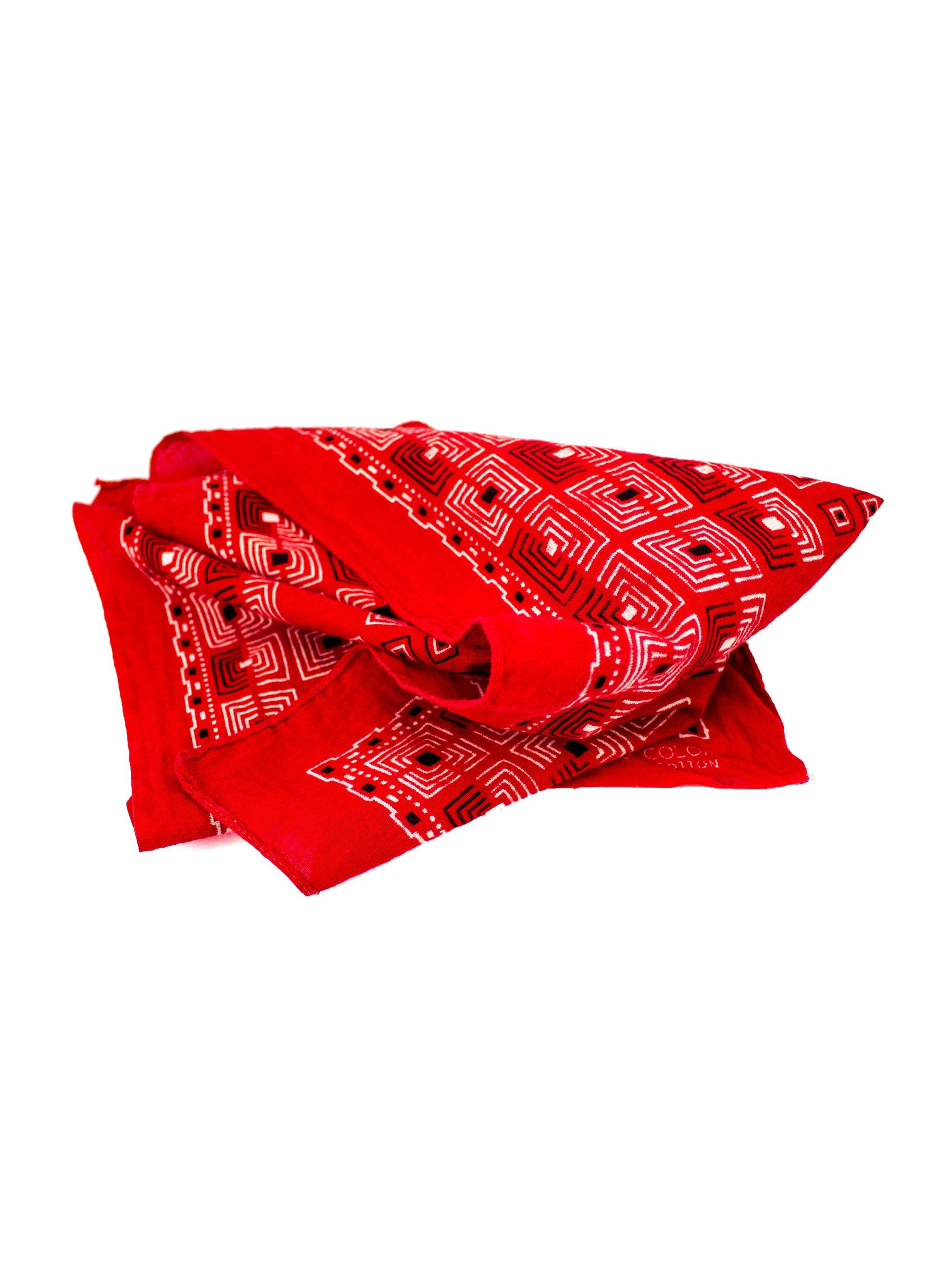 Red Vintage 1950's Fast Color Red Bandana 2
