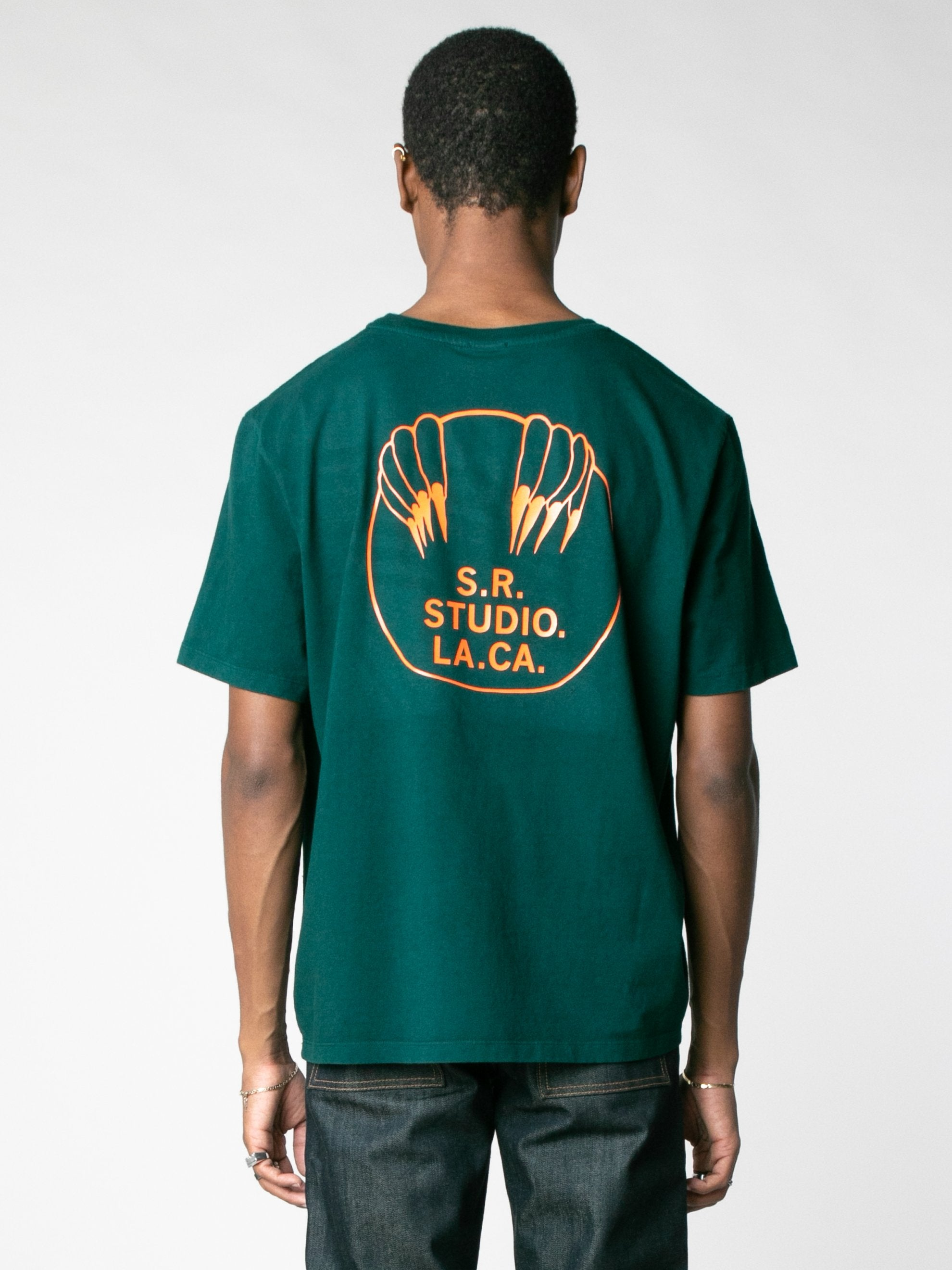 Basic T-Shirt With S.R.S Logo And Vampire Sunrise Back