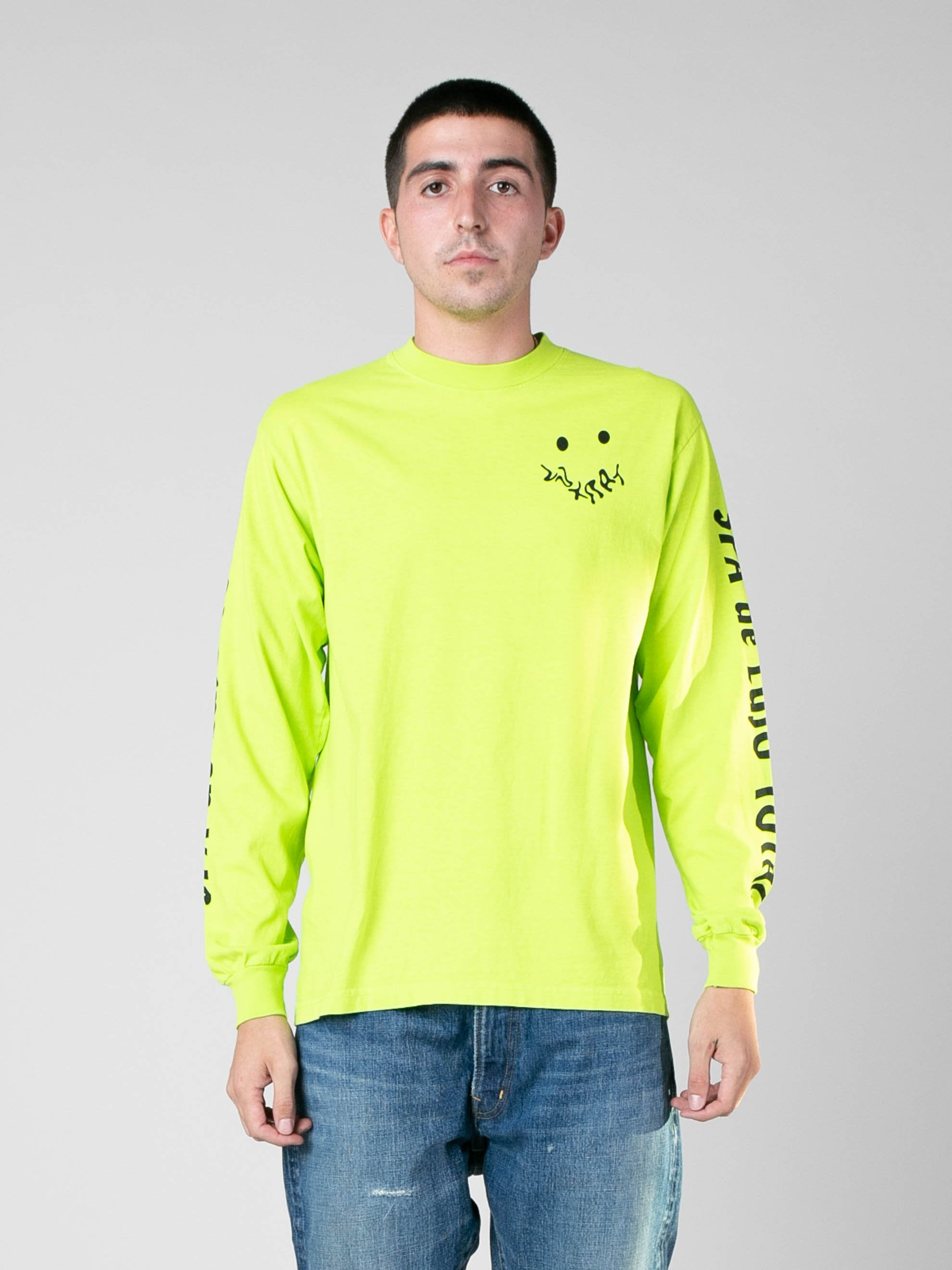 Neon Green SPA De Lujo Total Long Sleeve T-Shirt 2