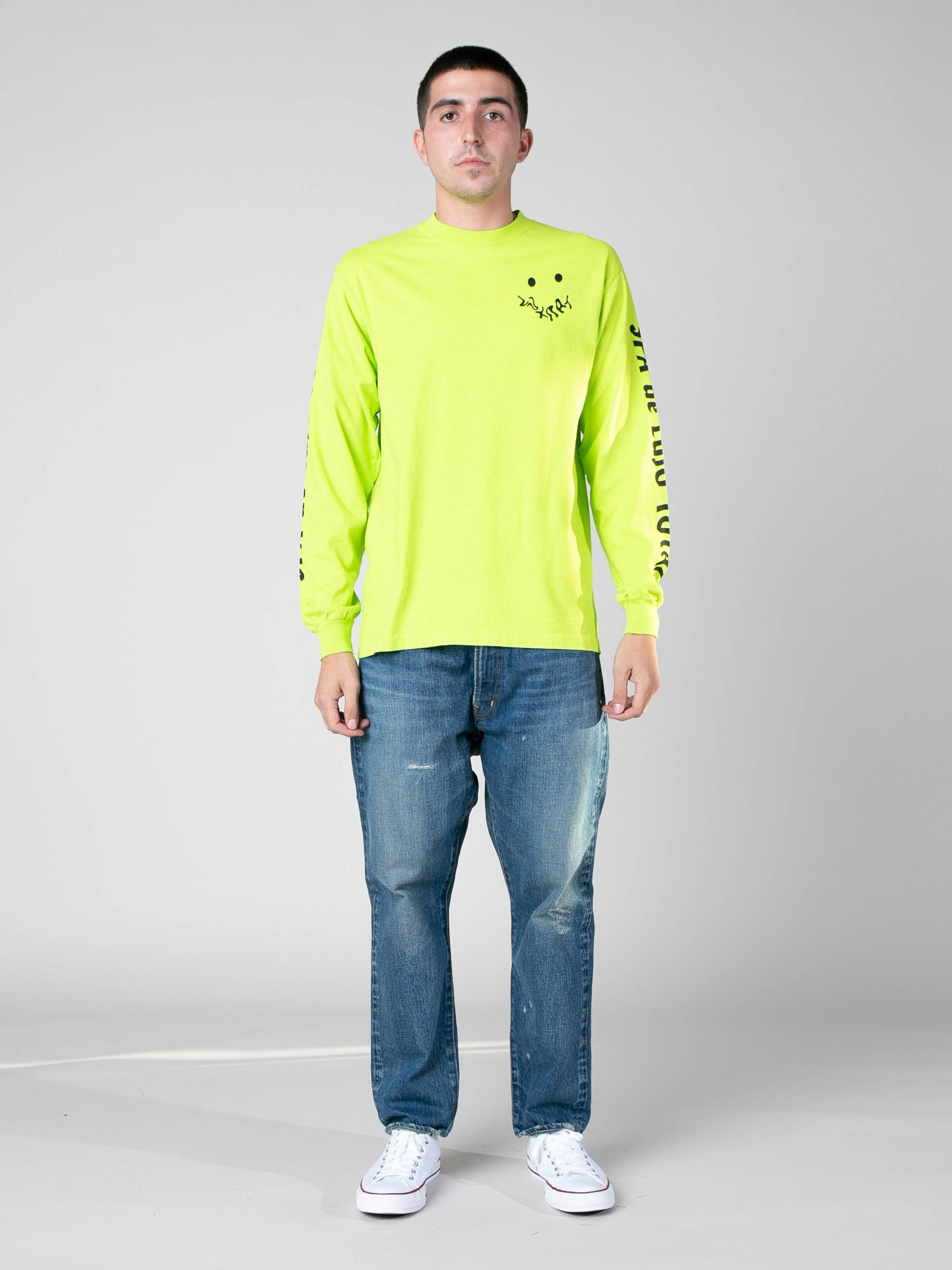 Neon Green SPA De Lujo Total Long Sleeve T-Shirt 3