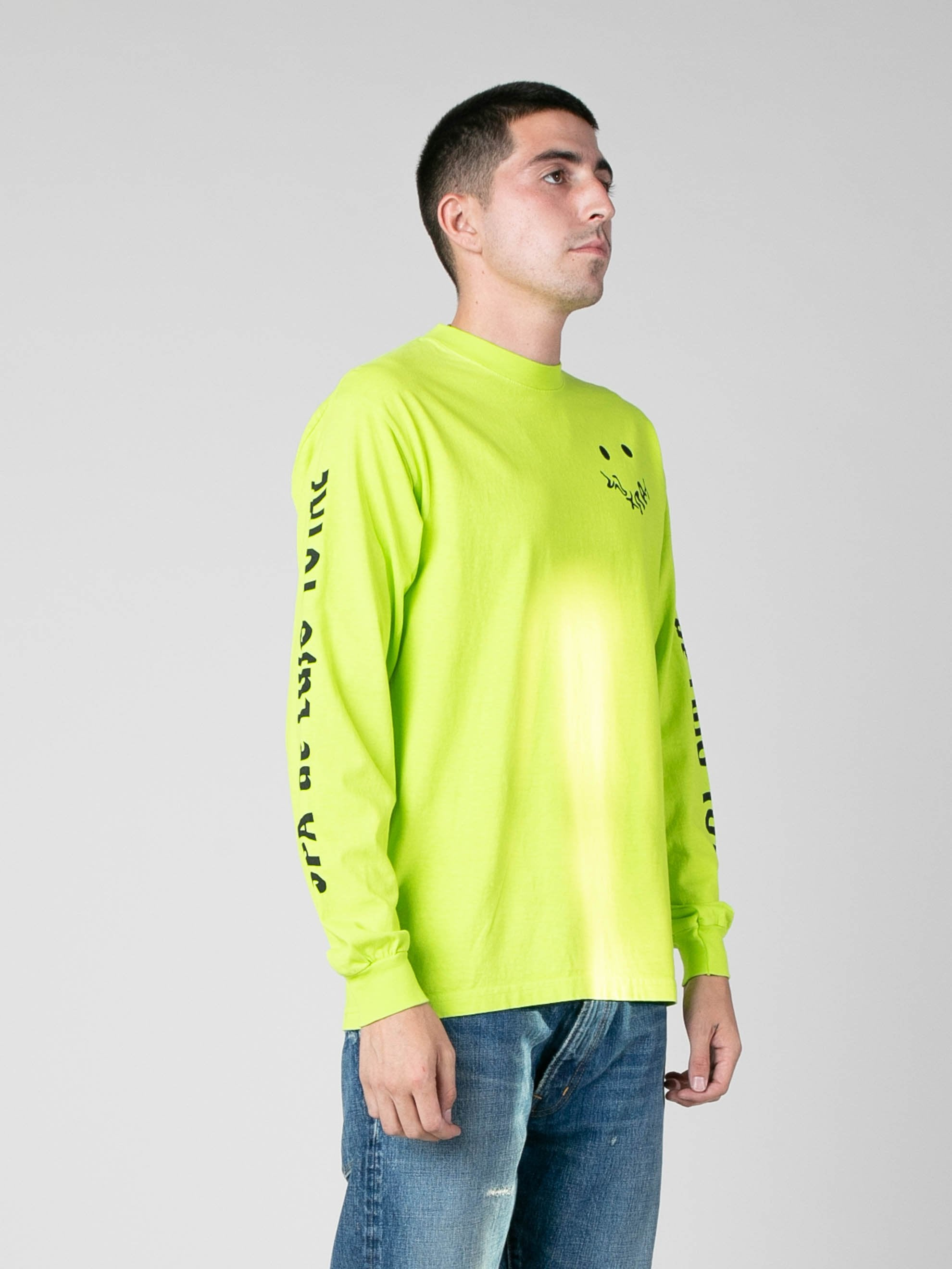 Neon Green SPA De Lujo Total Long Sleeve T-Shirt 4