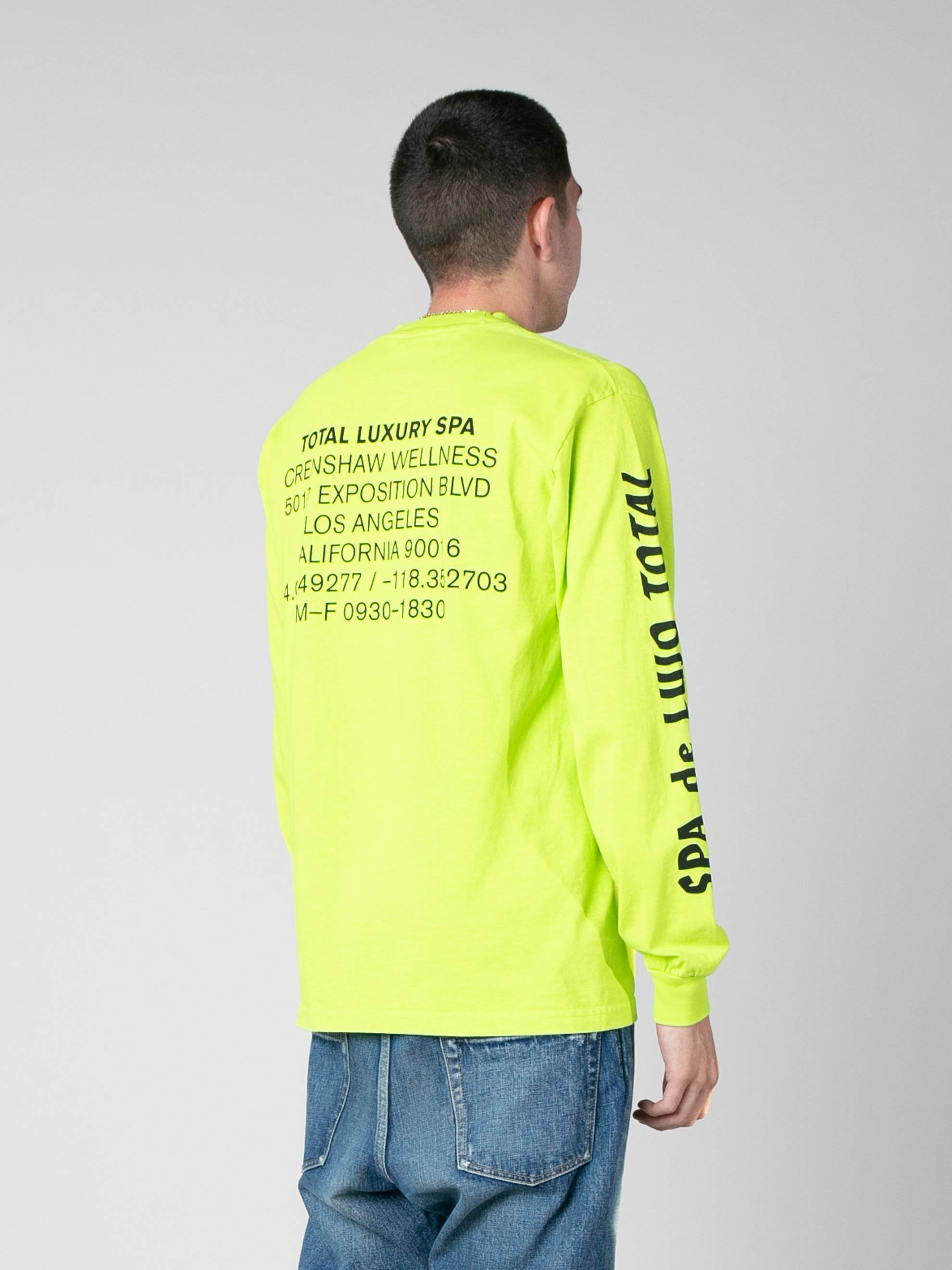 Neon Green SPA De Lujo Total Long Sleeve T-Shirt 5
