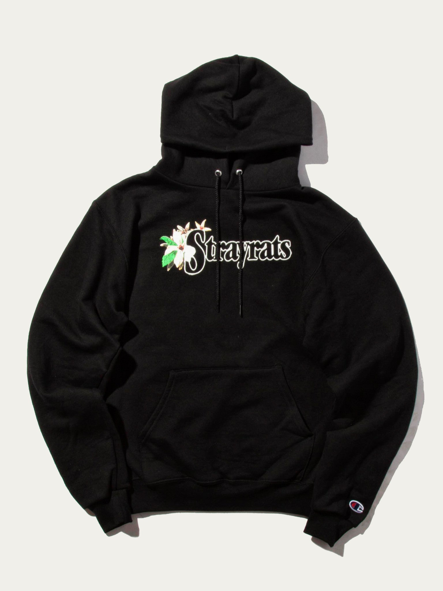 Black Flower Hooded Sweatshirt 1