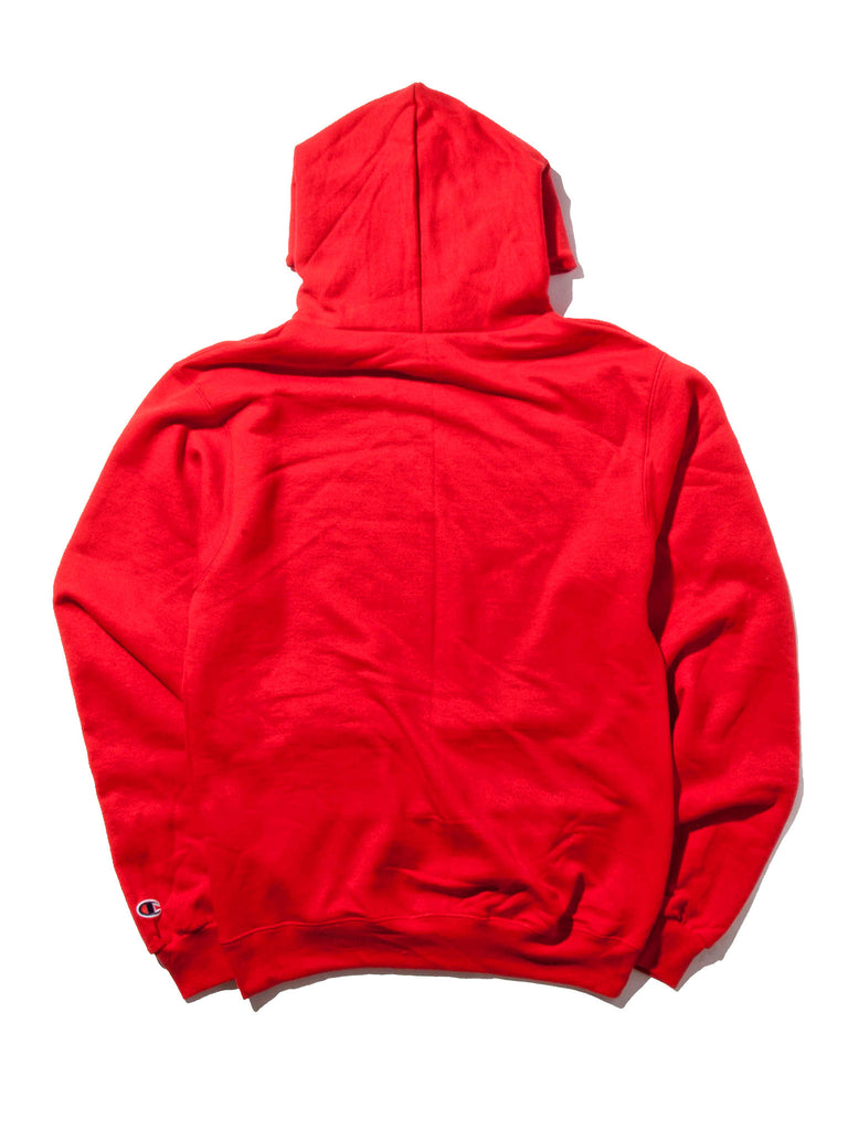 Red Flower Hooded Sweatshirt 919355303497