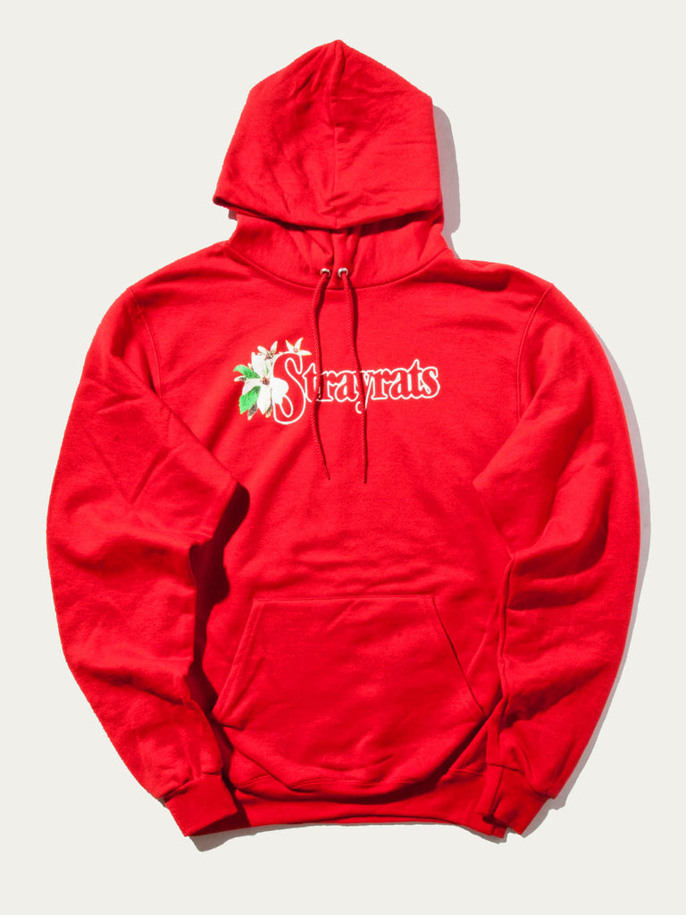 Red Flower Hooded Sweatshirt 819355305801